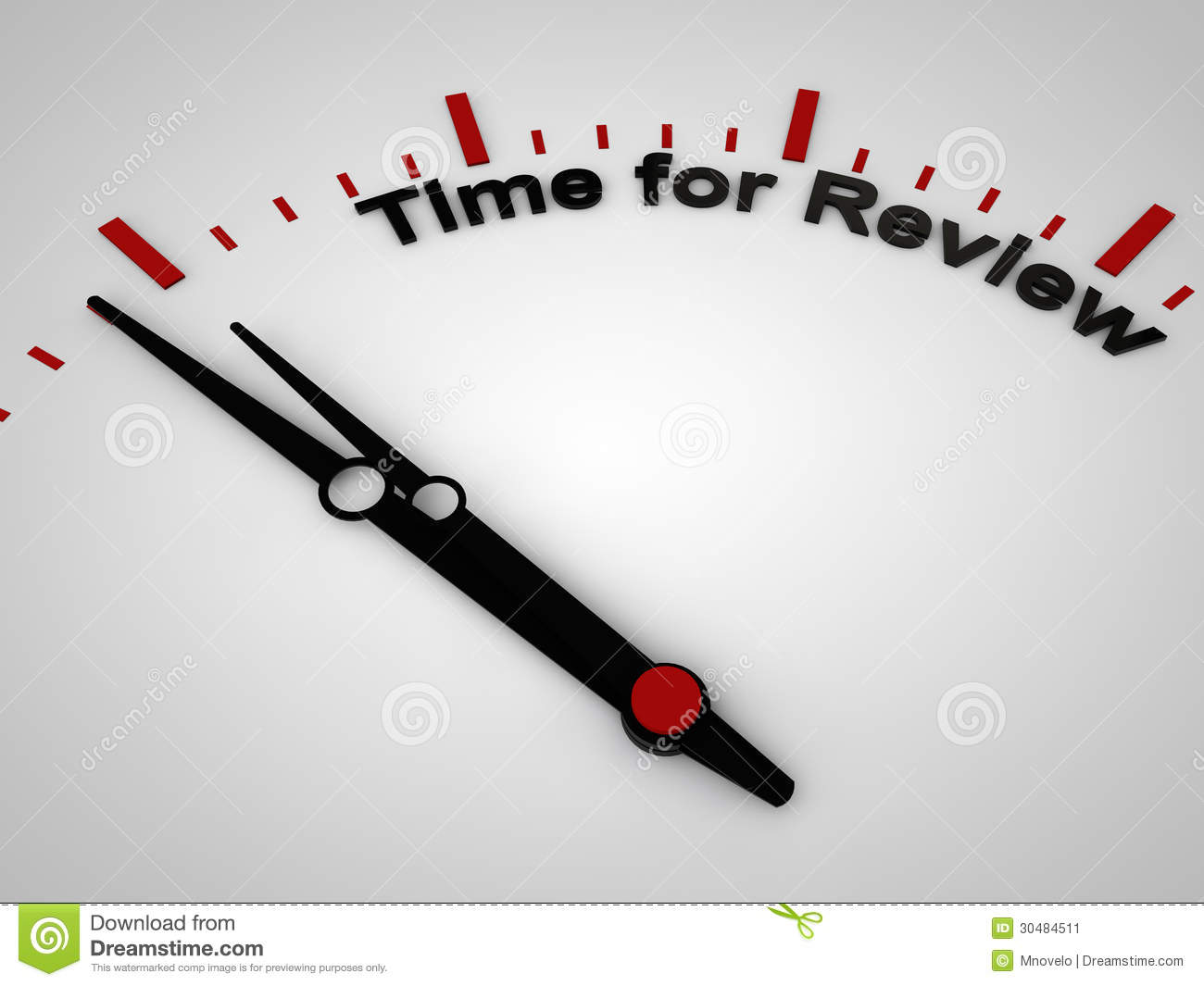 time for review stock image