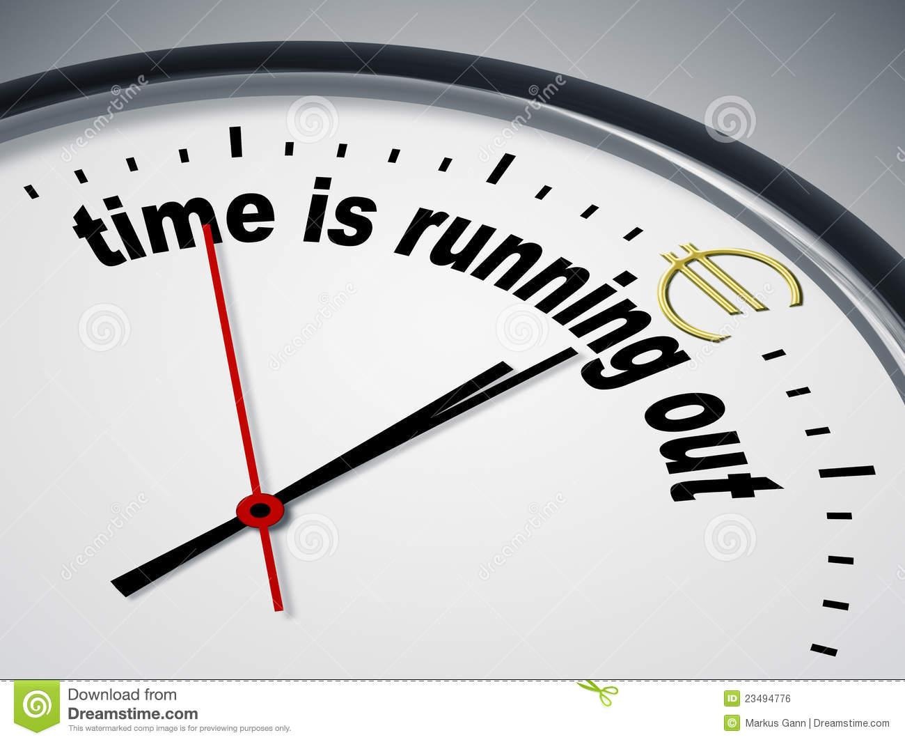 Time Is Running Out For Euro Royalty Free Stock Image - Image ...