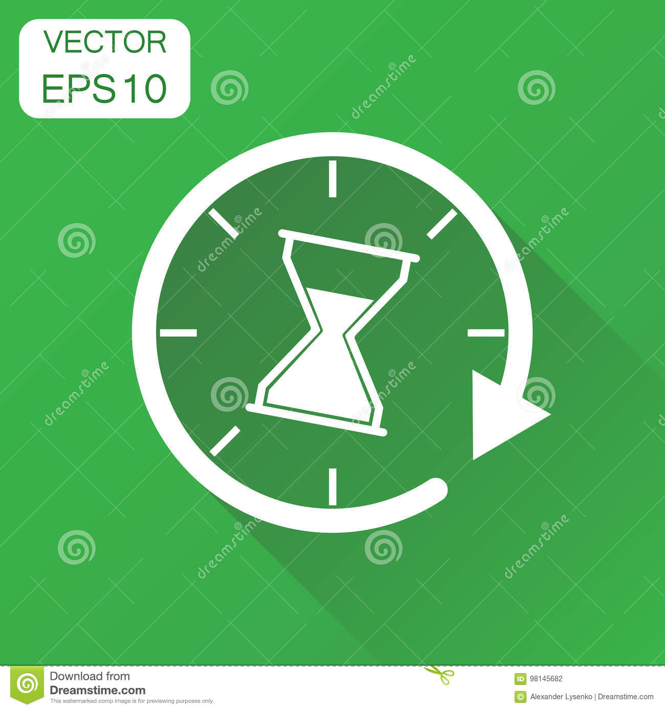 Time sandglass icon. Business concept clock hourglass pictogram.