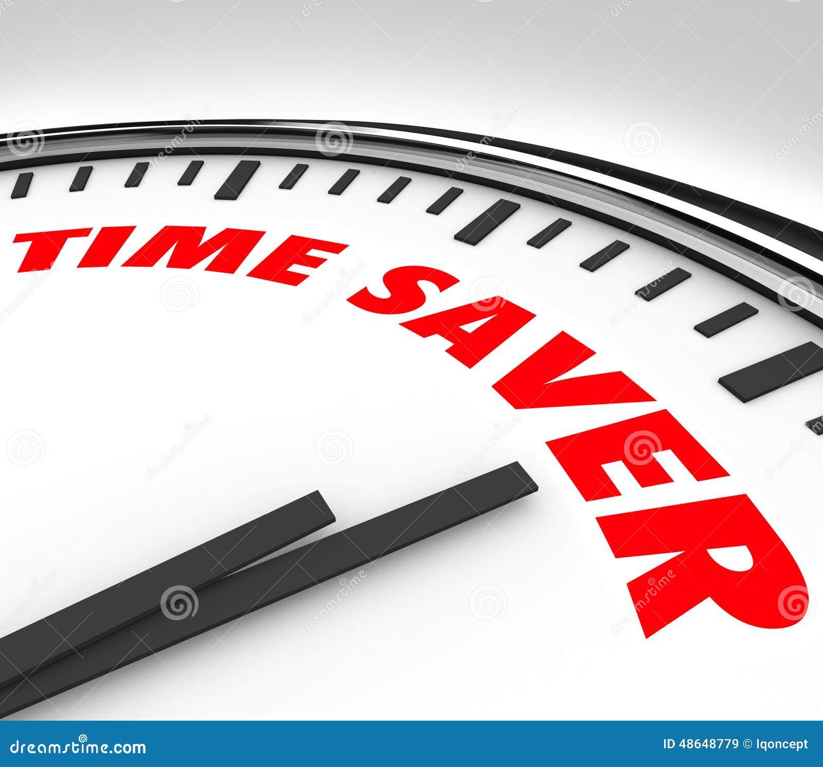 Time Saver Clock Words Efficient Productive Work Advice ...