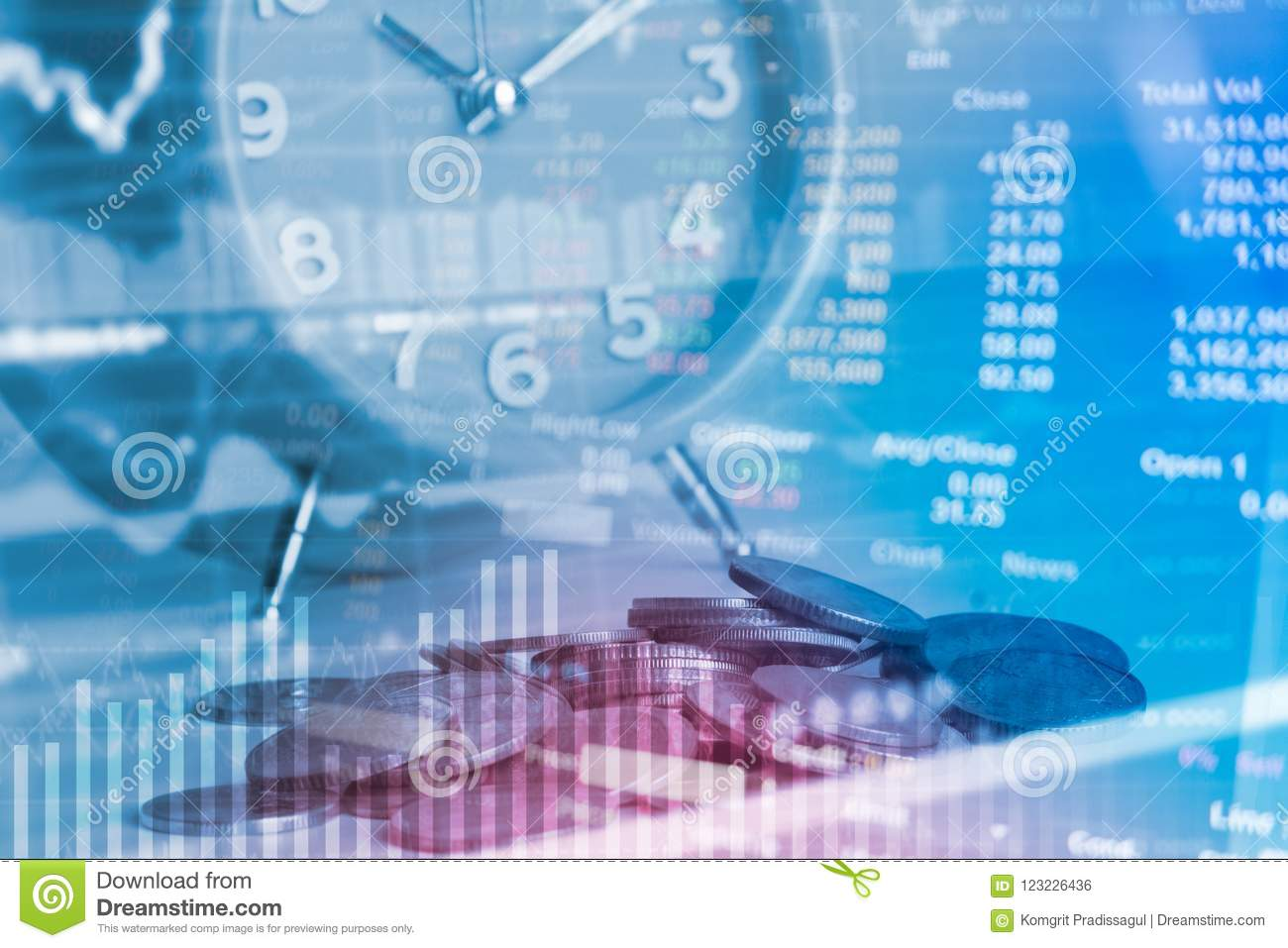 Coin Calculator And Clock, Idea Of Value To Finance And