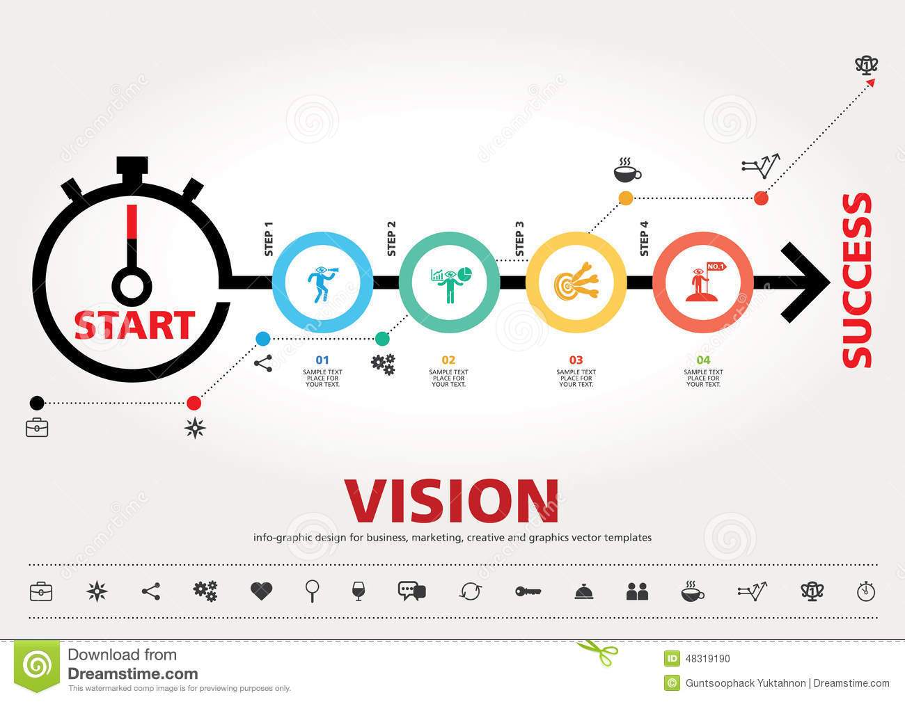 Time for success template modern info graphic design for Time for business