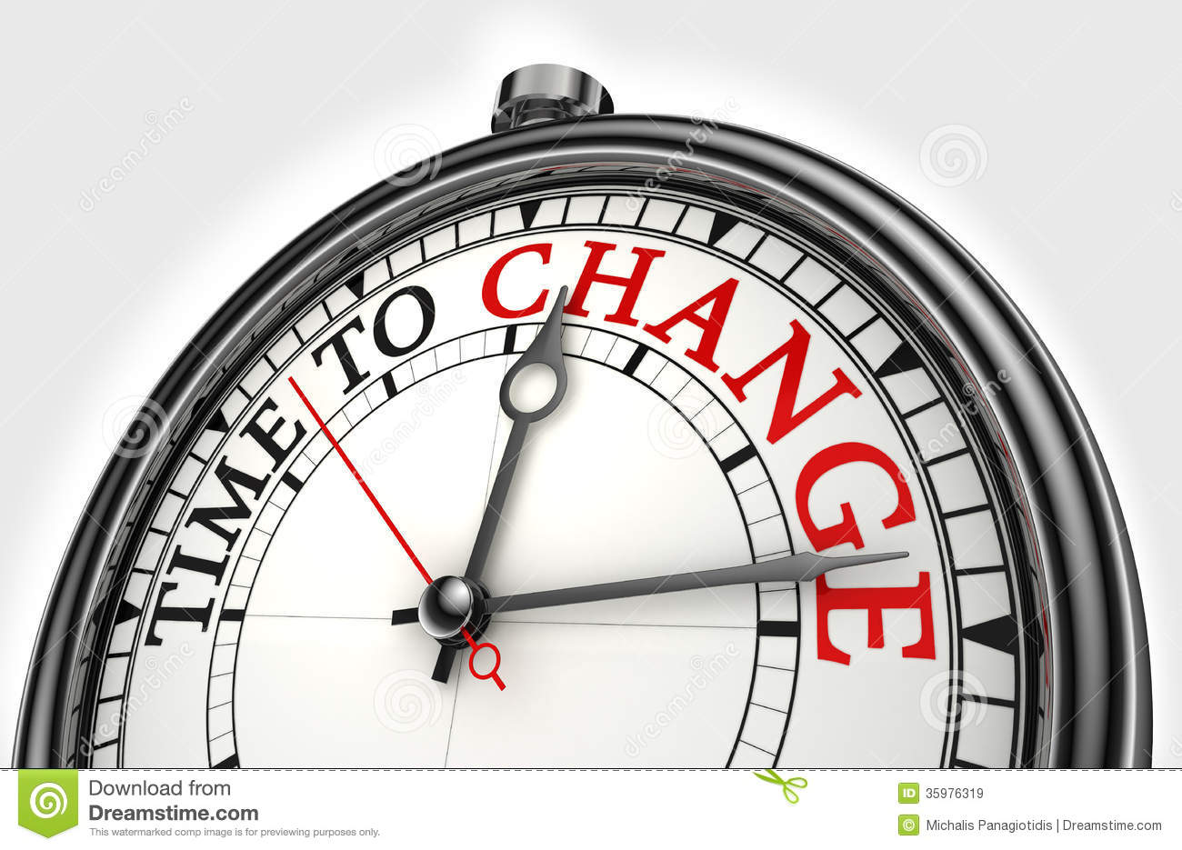 Time to change concept clock stock illustration for Time for business