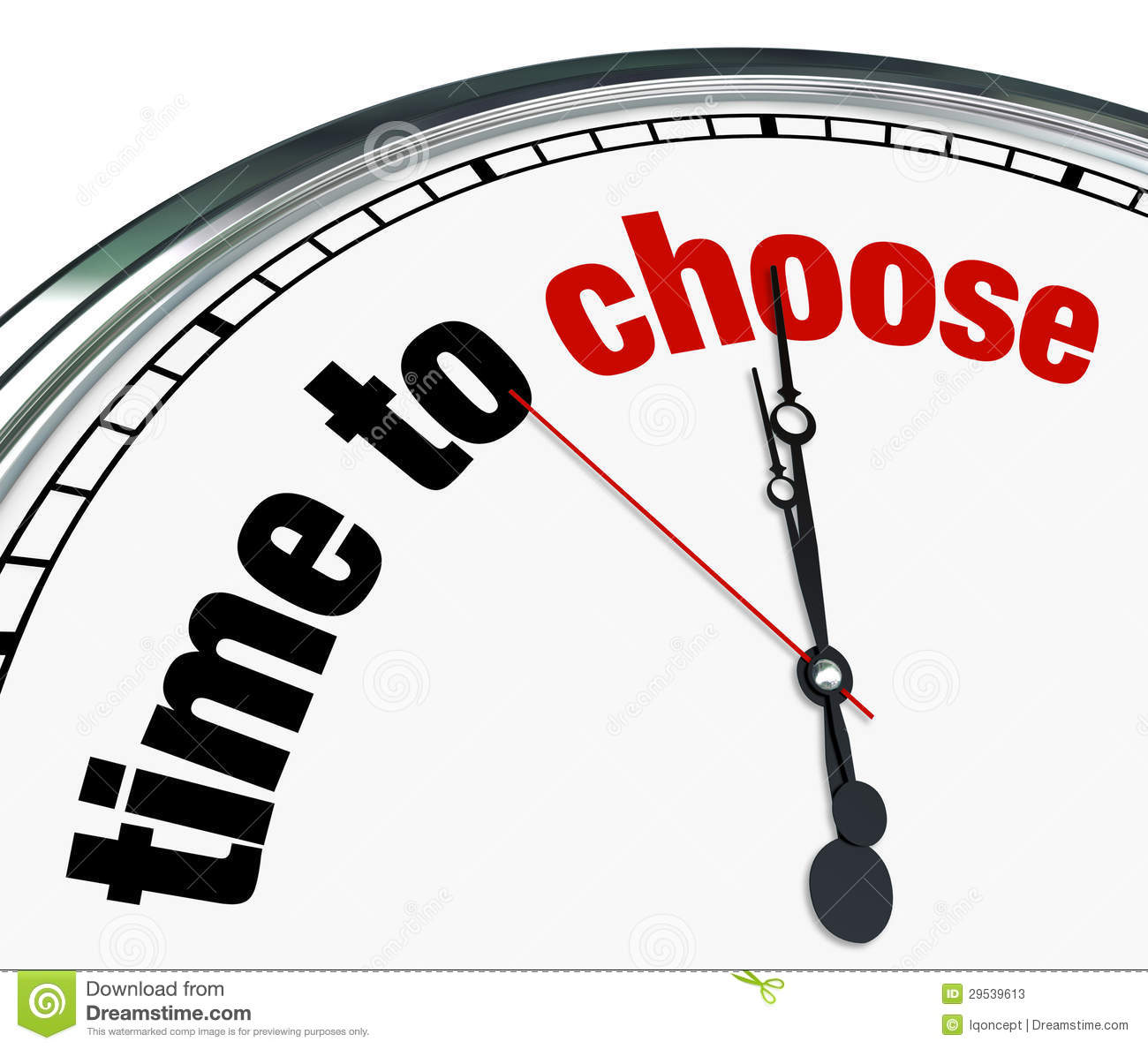 Clock Reminds To Decide Stock