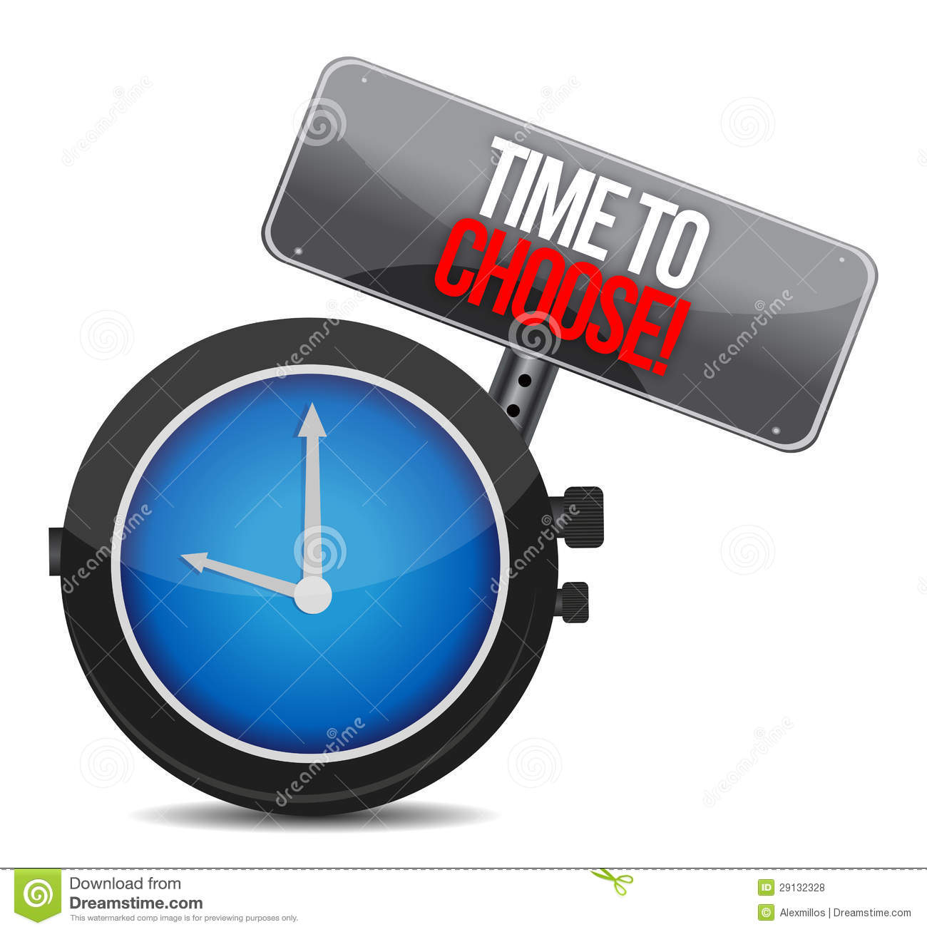 Decision Word Watch Stock Photography