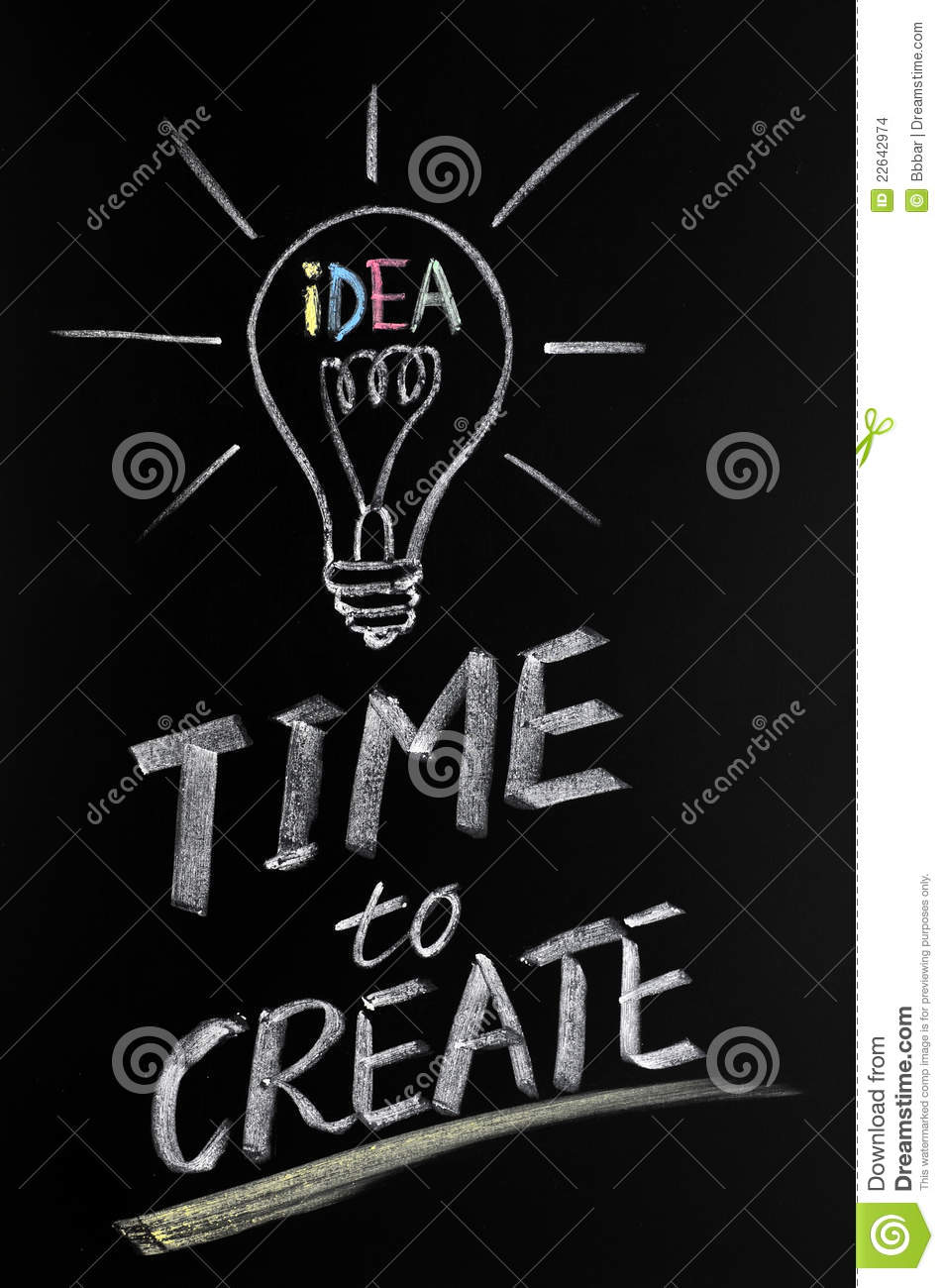 time to create stock images