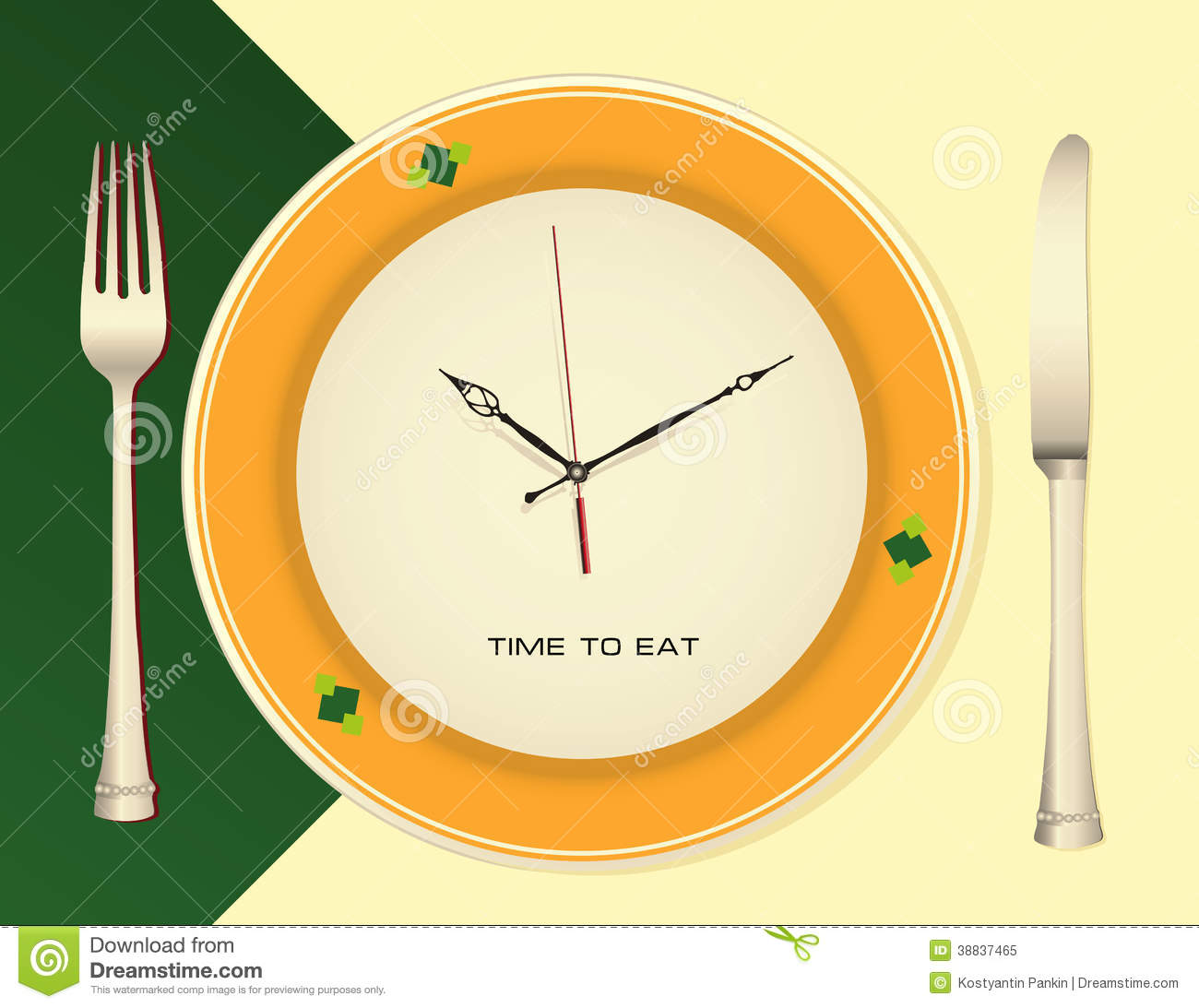 Time To Eat Stock Vector Illustration Of Knife Food