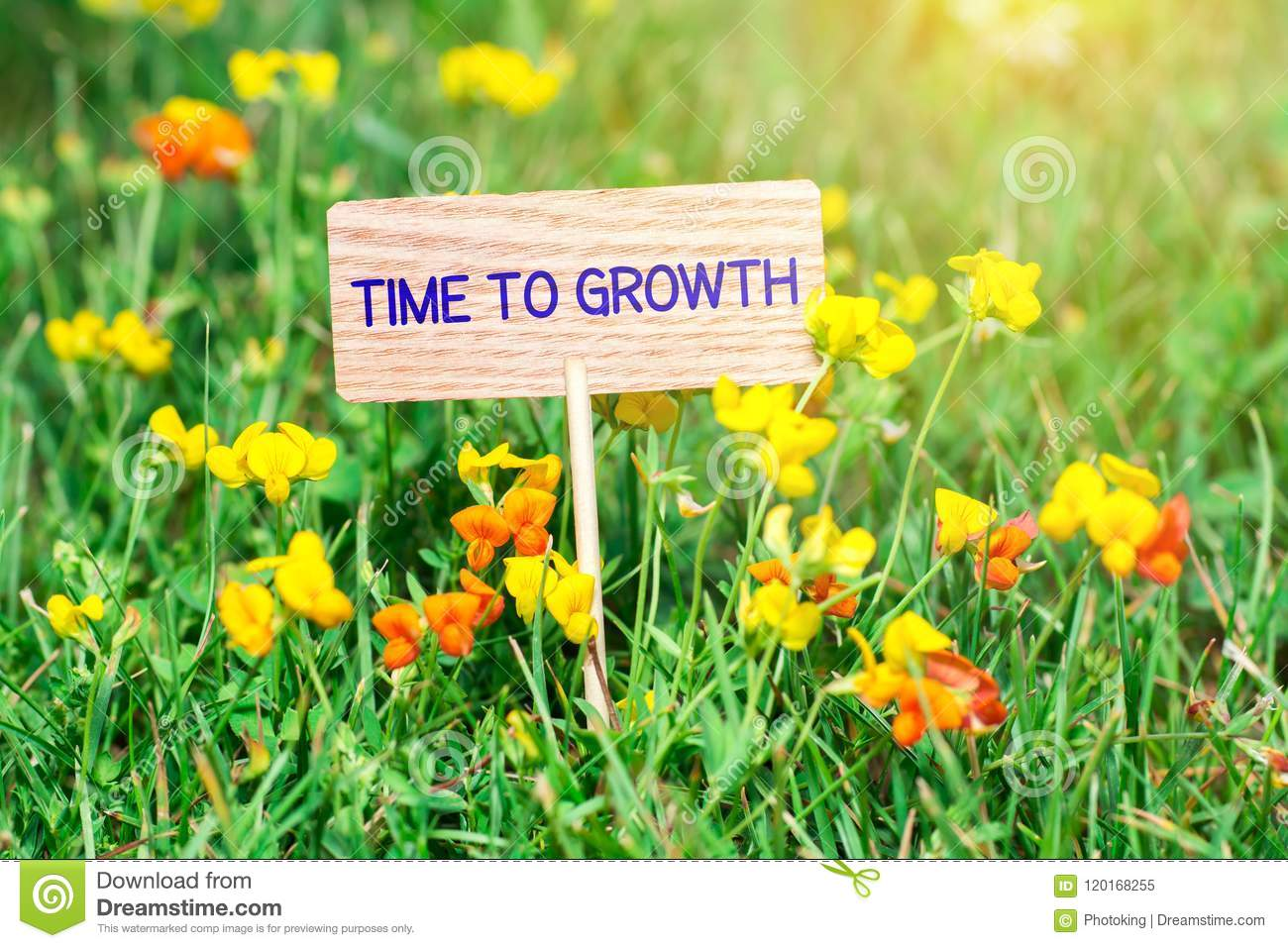 Time to growth signboard