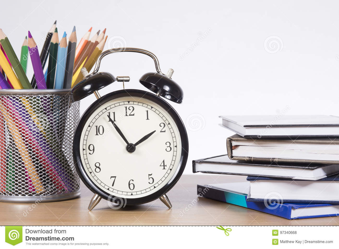 Download Time To Learn Clock Pencils And