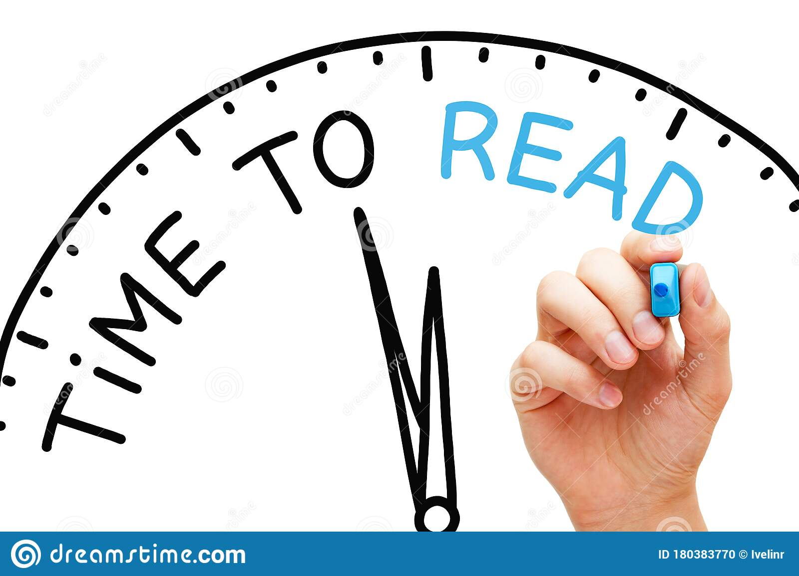 Time To Read Educational Clock Concept Stock Photo Image Of Improve Clock 180383770