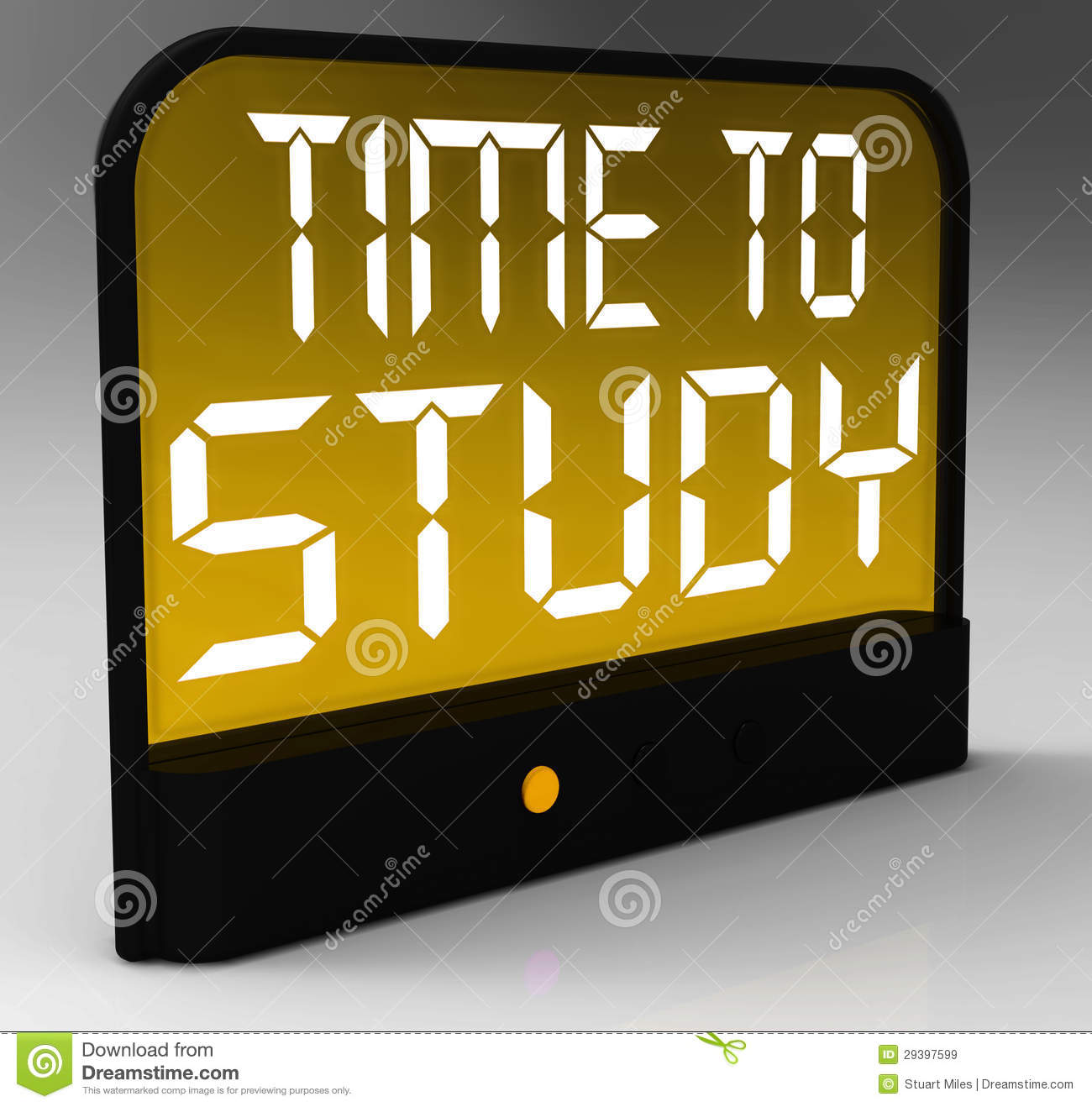 Time To Study Message Showis Education And Studying Royalty Free Stock ...