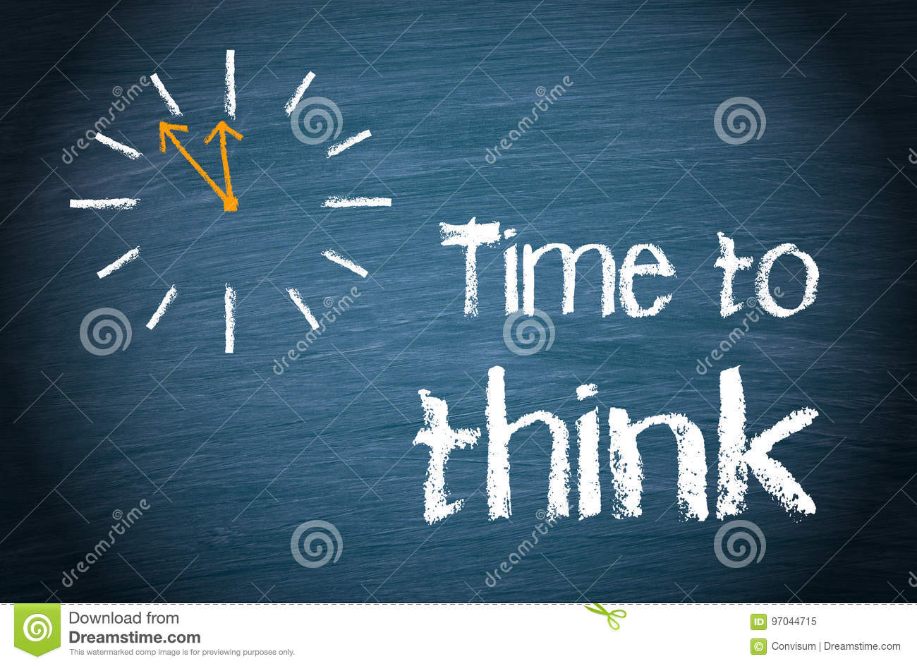 Time to think - business concept with clock and text