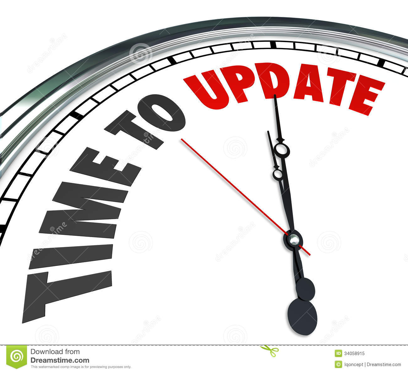 Free Renovation Software Time To Update Words Clock Renovate Improvement Stock