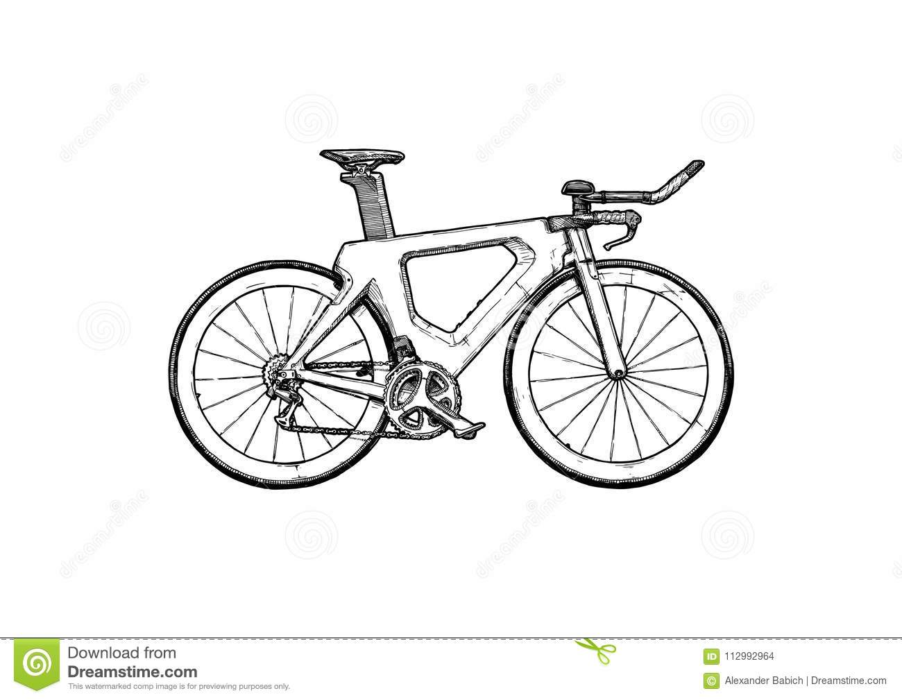 Time trial bicycle stock vector  Illustration of retro