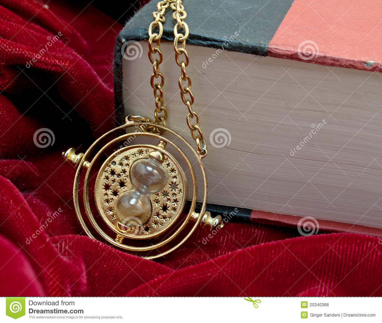 Time Turner Hour Glass Necklace And Book