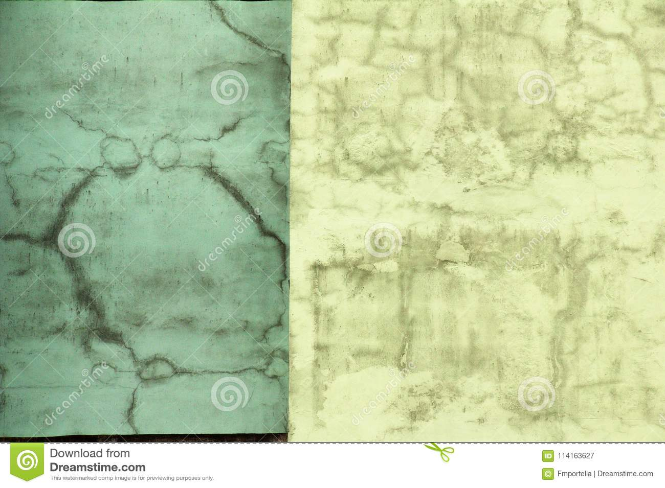 Worn Out Two Color Plastered Wall Stock Image - Image of walls ...