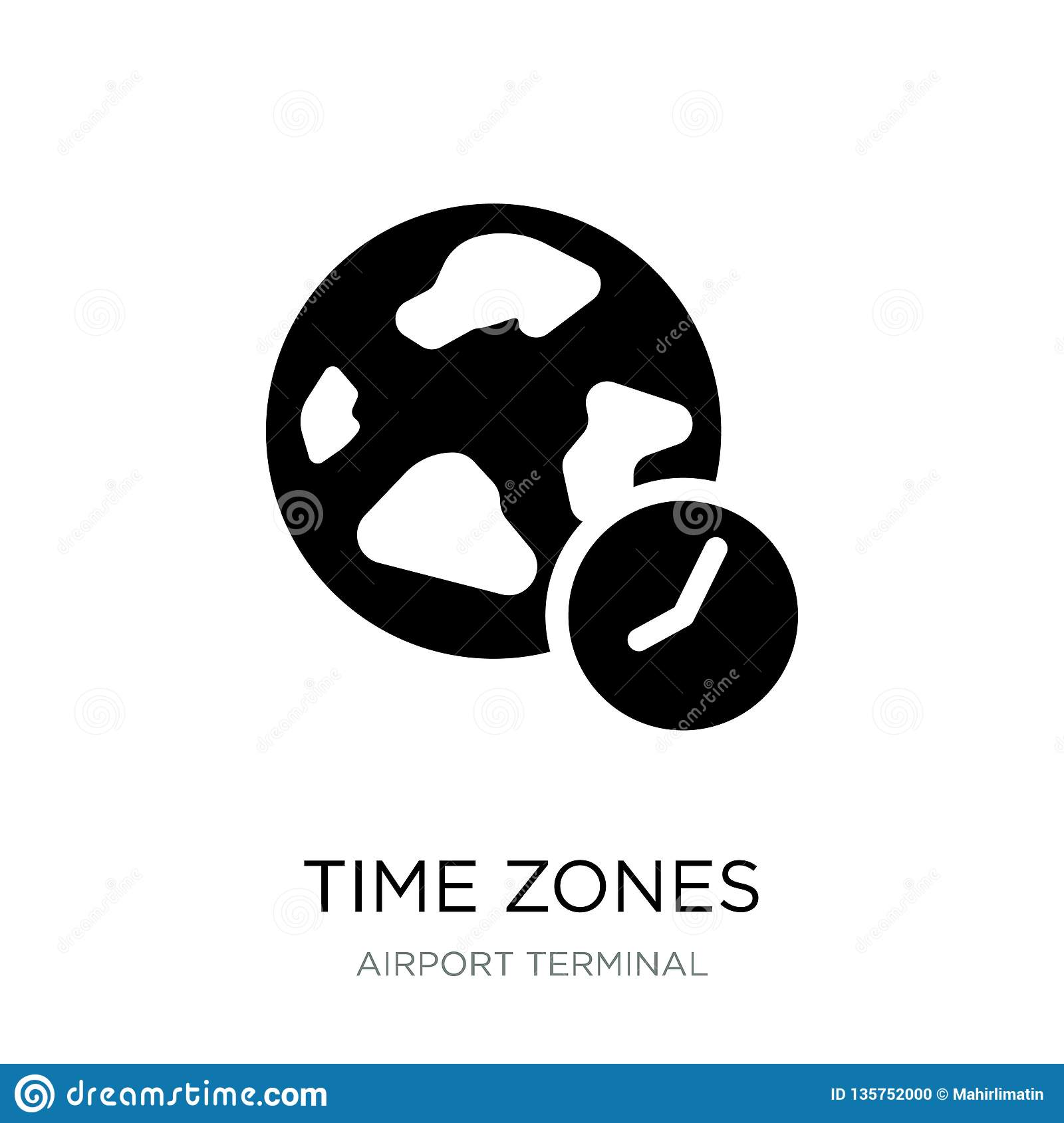 Clocks With World Time And Finance Business Concept Stock