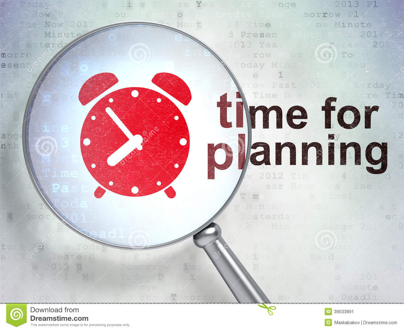 timeline concept  alarm clock and time for planning with