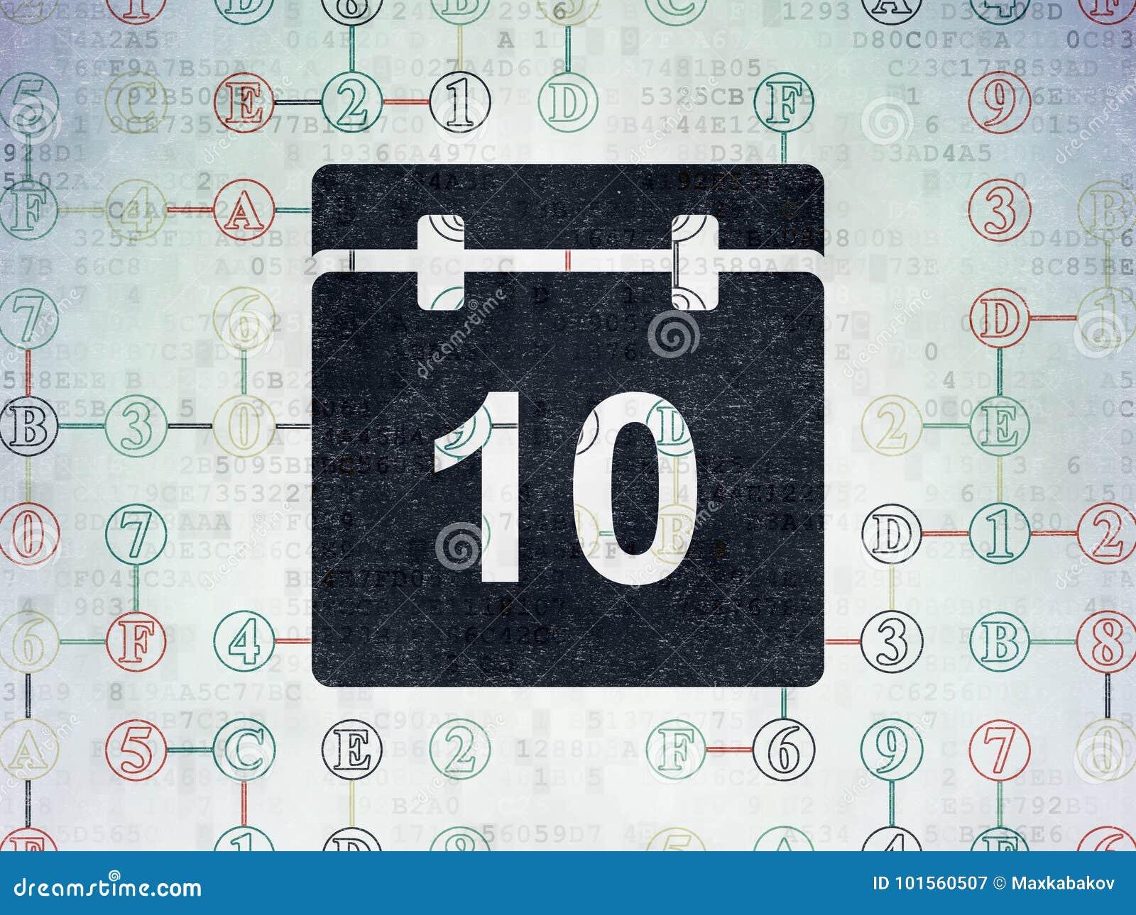 Timeline Concept Calendar On Digital Data Paper Background Stock