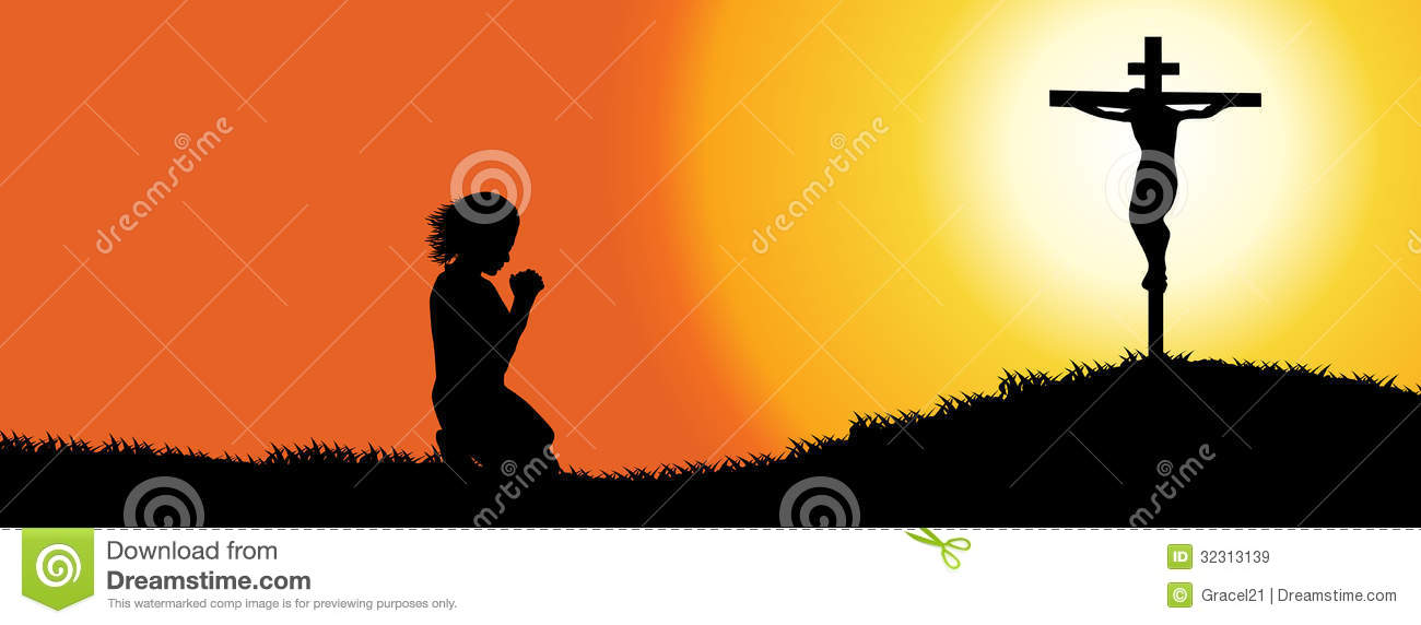 Timeline Cover. Prayer Silhouette Royalty Free Stock Images - Image ...