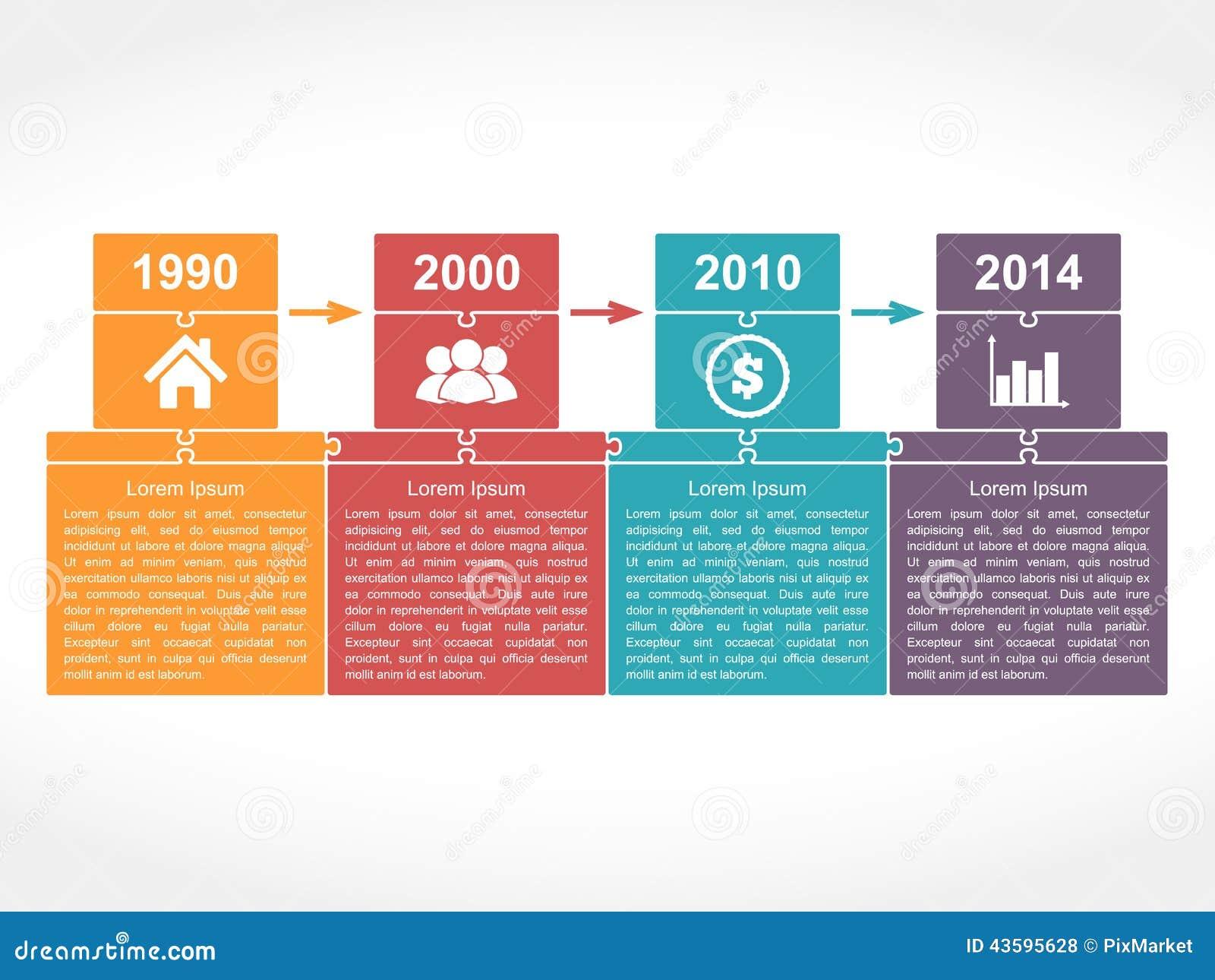 pr timeline template - timeline design template stock vector image 43595628