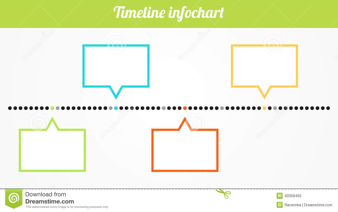 Simple Art Timeline : Timeline infochart stock vector image