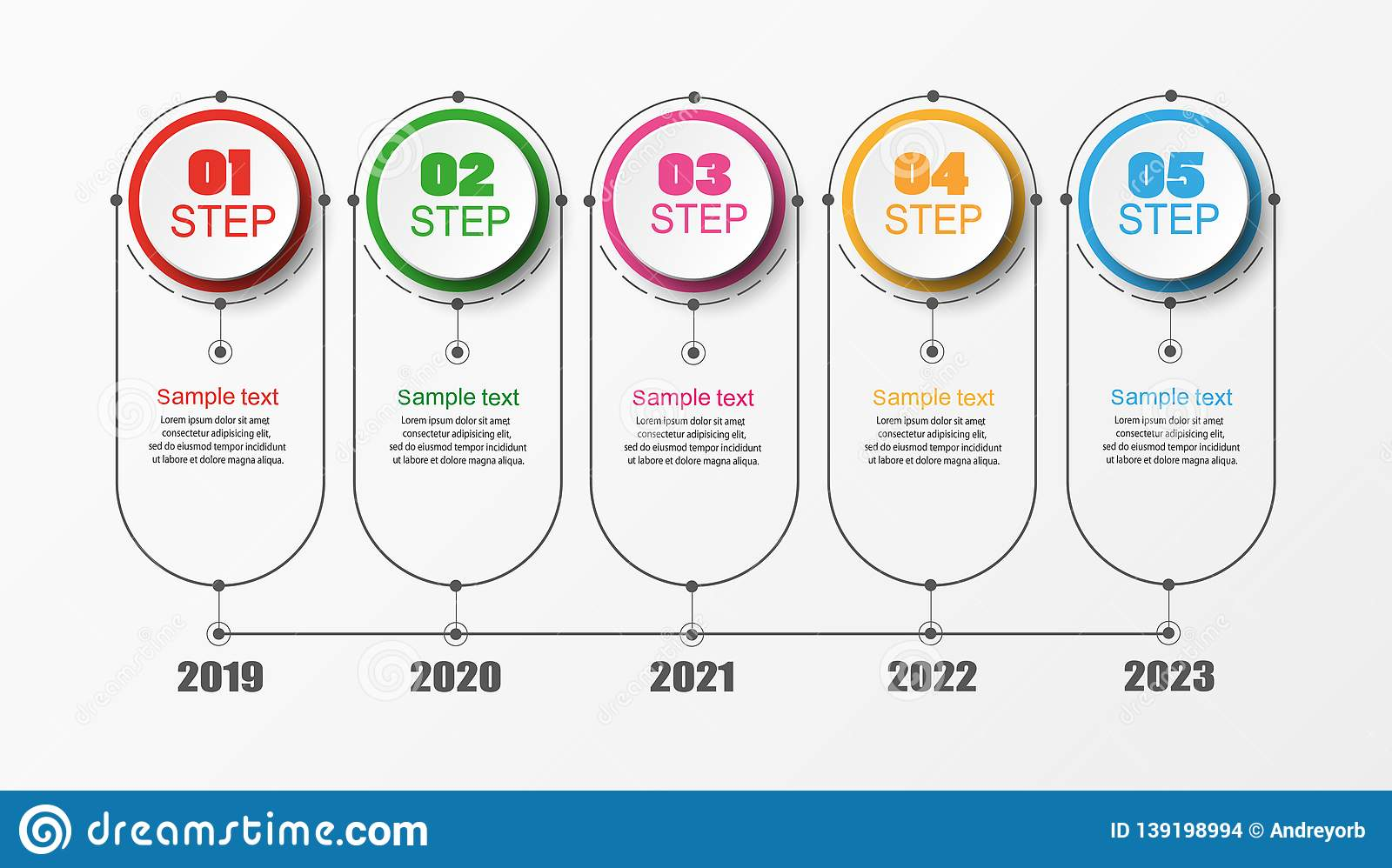 Timeline Infograph Business Workflow Diagram Process