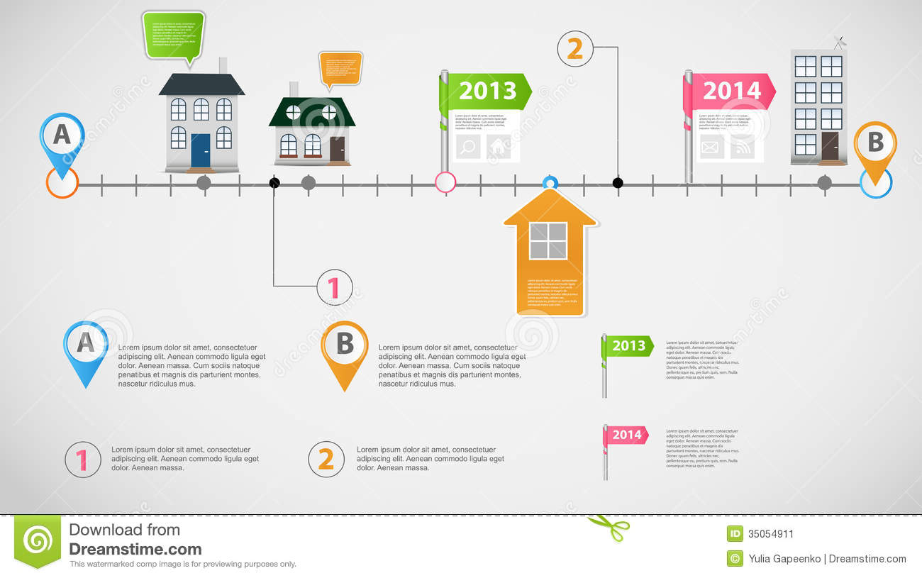 Timelineinfographicbusinesstemplatevectorillustrationfile - Business timeline template