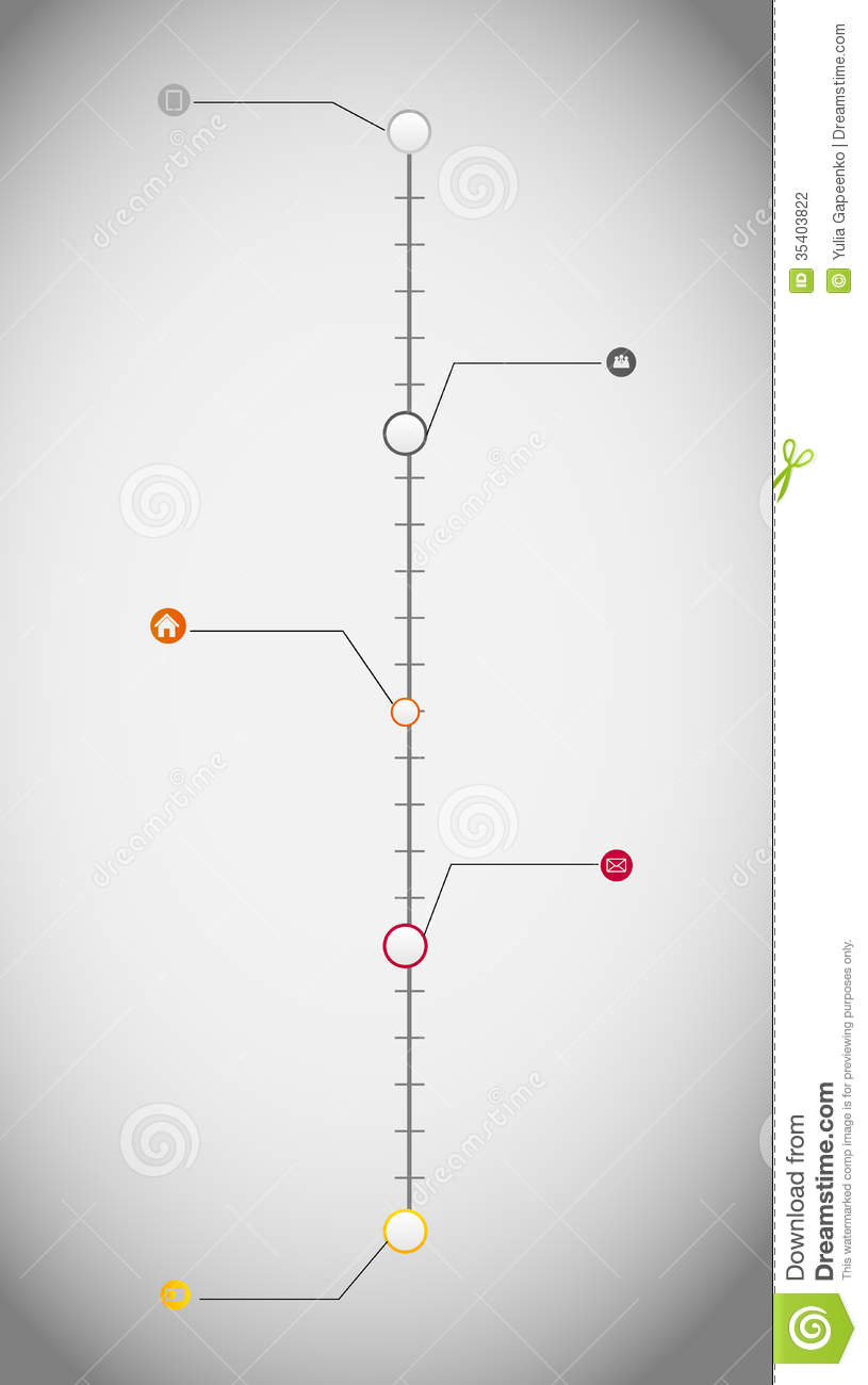 timeline infographic business template vector stock photography