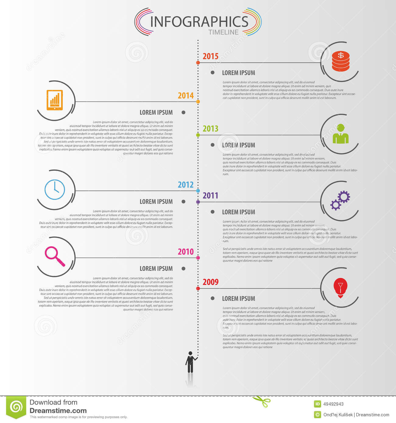 Timeline Infographic Design Template. Vector Stock Vector ...