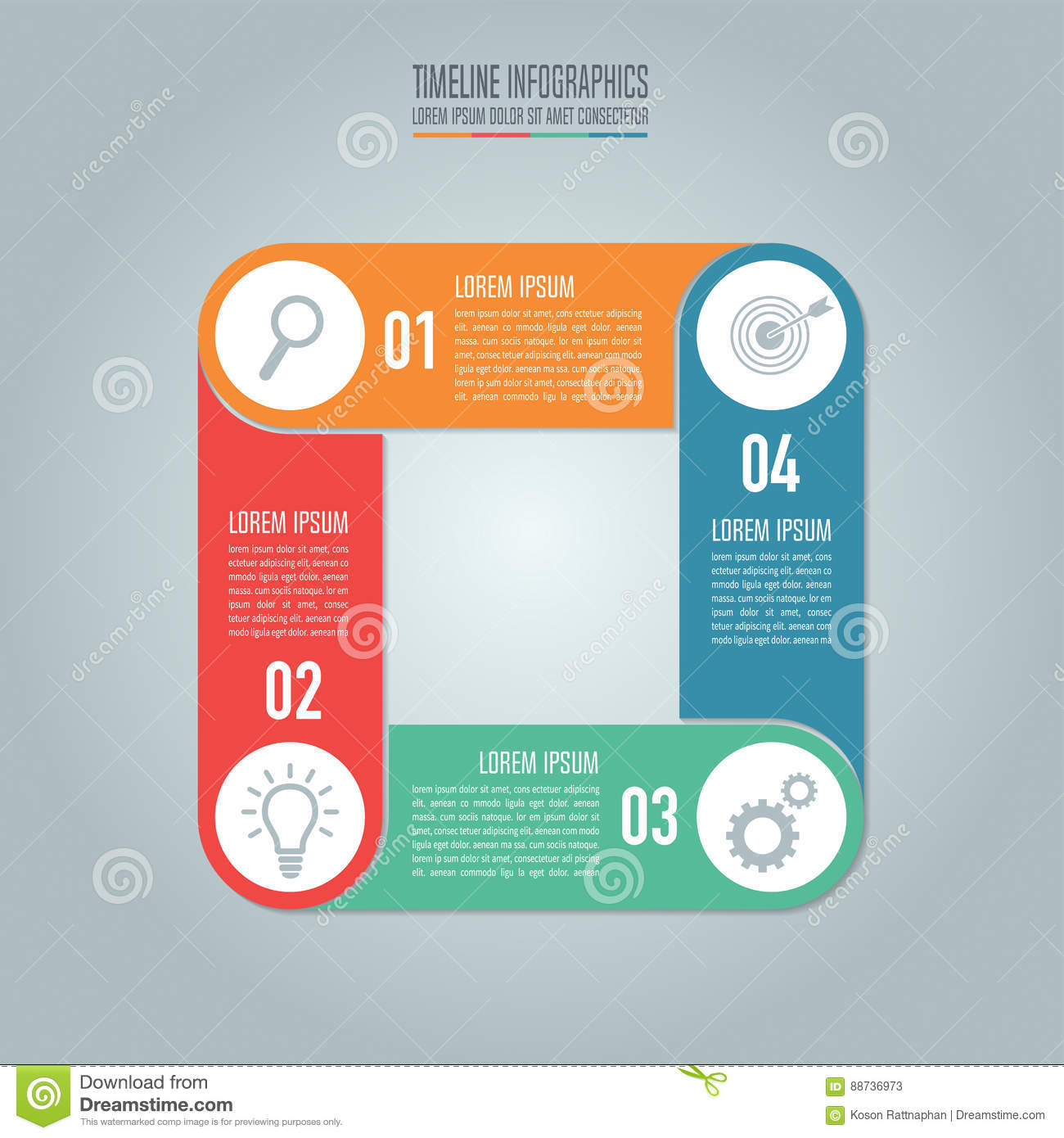 Timeline Infographic Design Vector And Marketing Icons For Prese ...