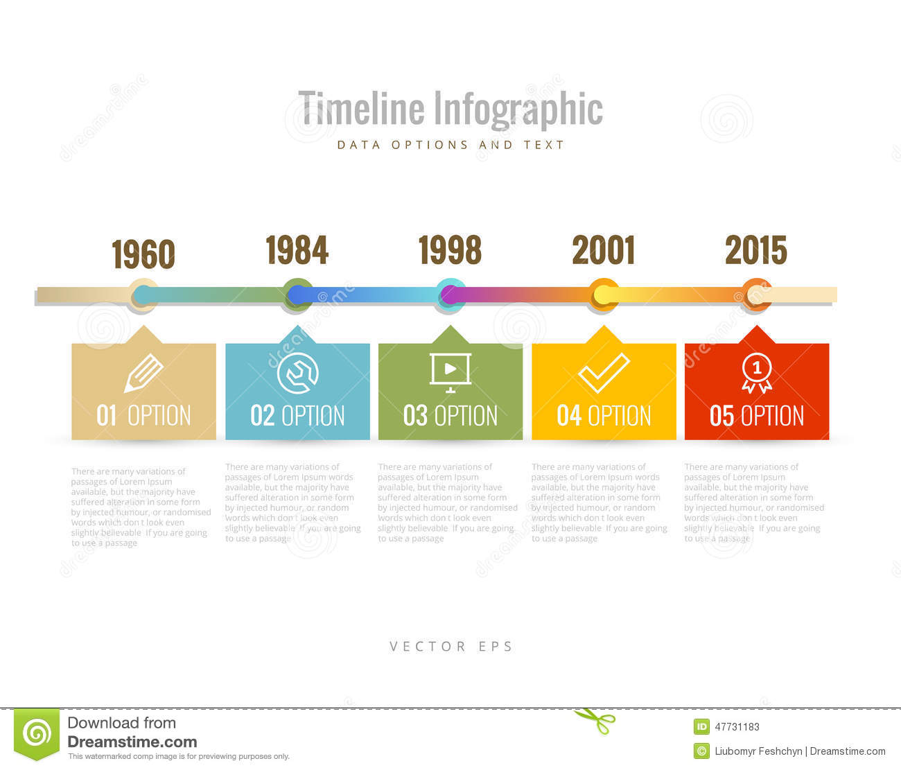 Timeline Infographic With Diagrams, Data Options And Text ...