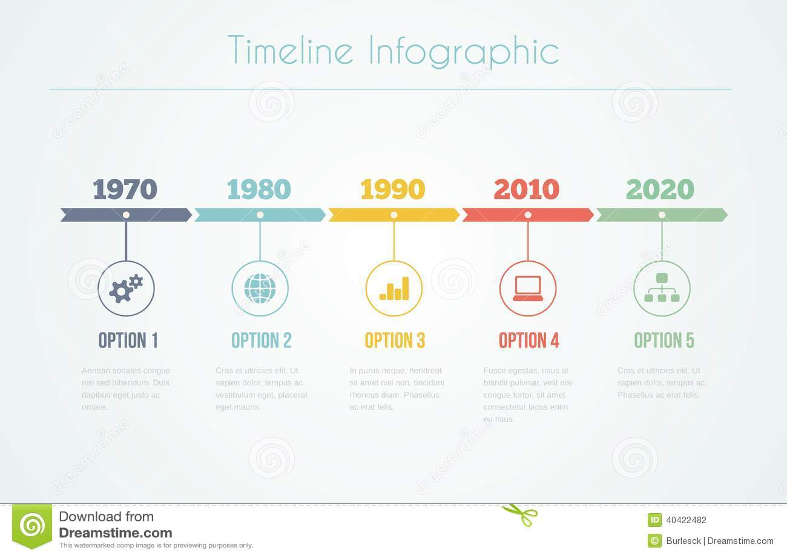 timeline infographic stock vector illustration of infographic 40422482. Black Bedroom Furniture Sets. Home Design Ideas