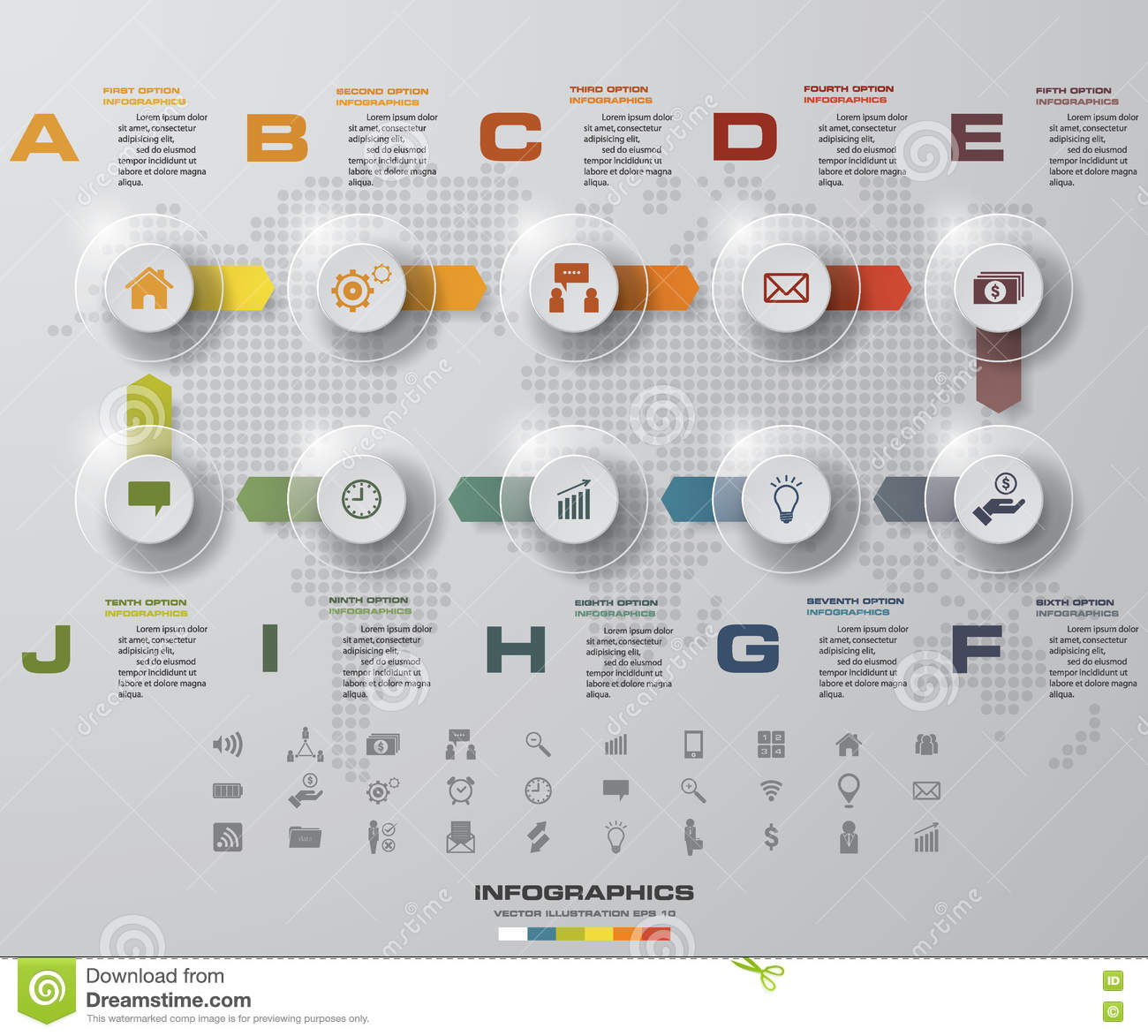 Business Infographic 4 Steps Timeline Template Vector – Business Timeline Template