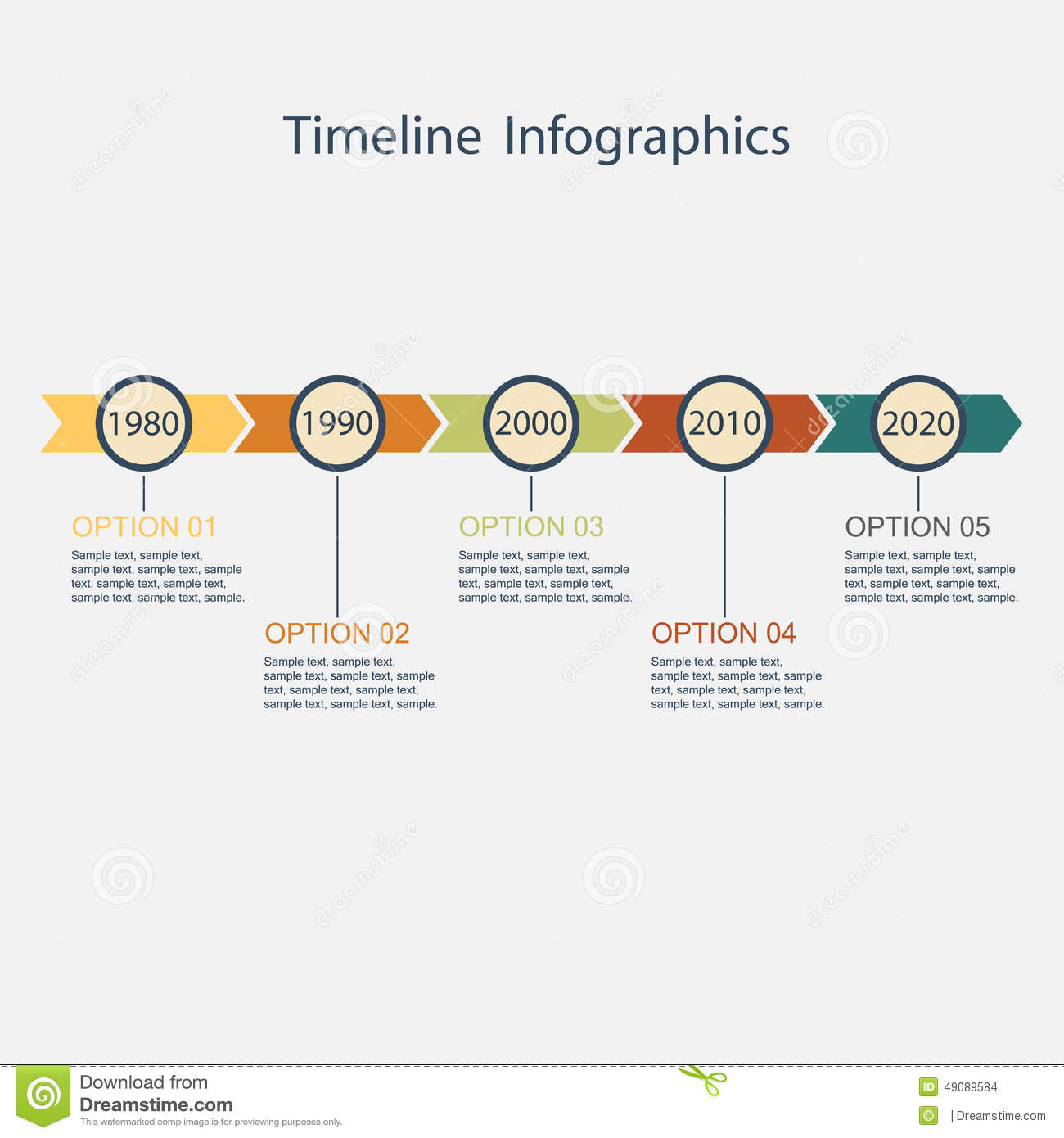 Timeline Infographic. stock vector. Illustration of future ...