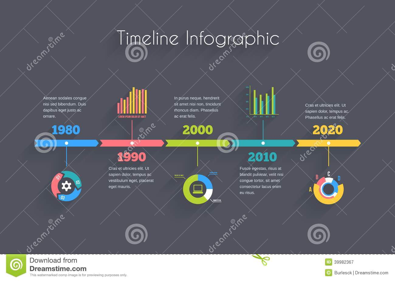 Timeline Infographic Template Stock Vector - Image: 39982367