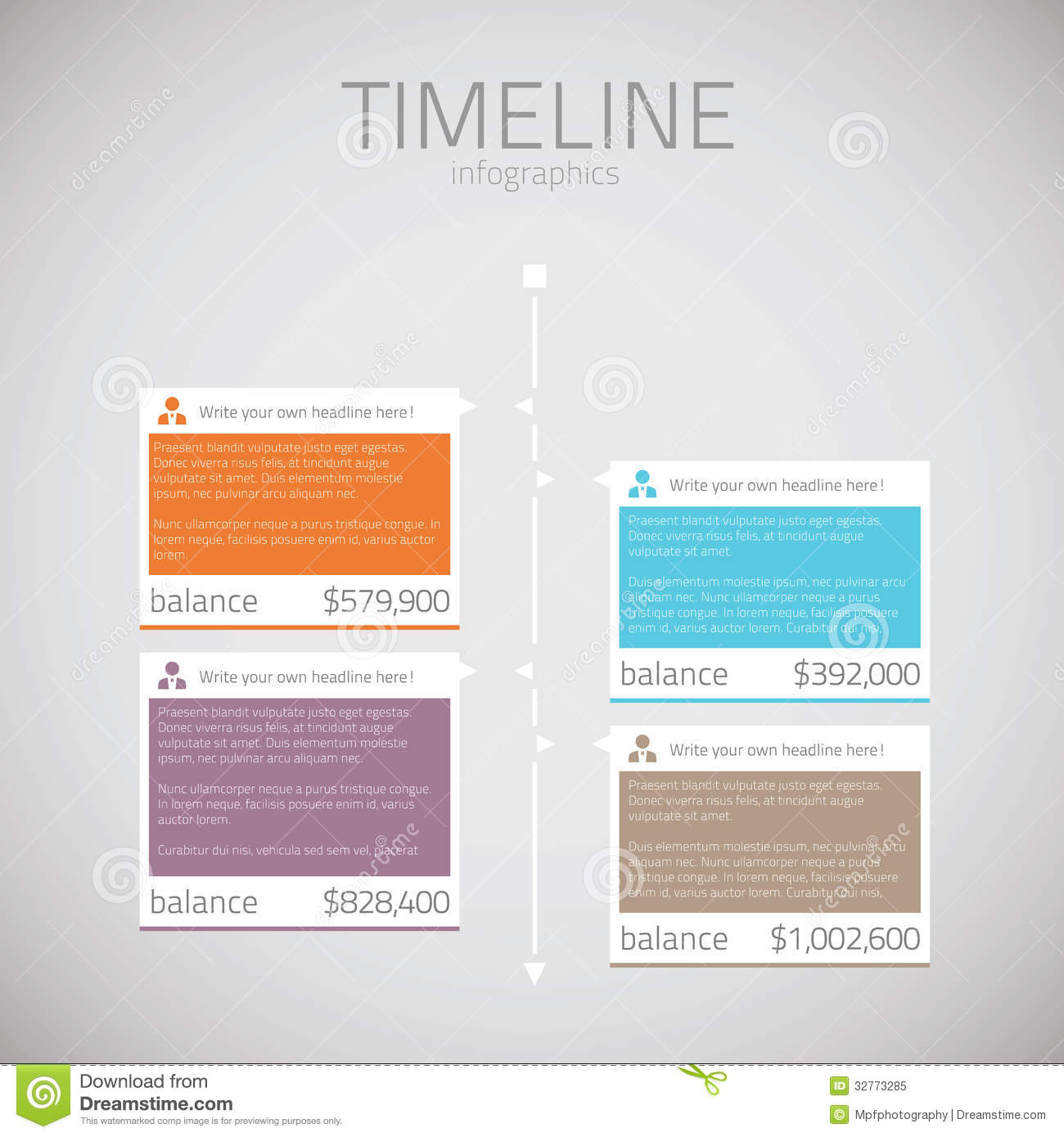 fill in timeline template