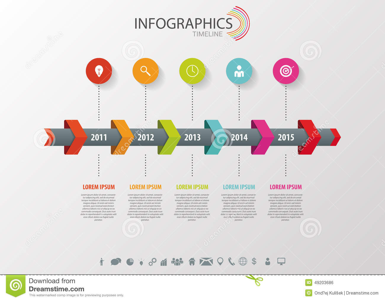 Timeline Infographic, Vector Design Template Stock Vector ...