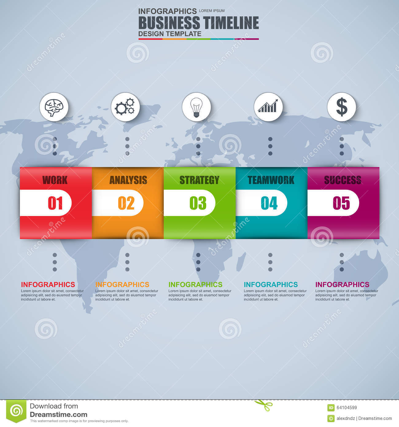 Timeline Infographic Vector Design Template Stock Process Flow Diagram With Can Be Used For Workflow Processes Banner Number Options Data Visualization Time Line Work Plan