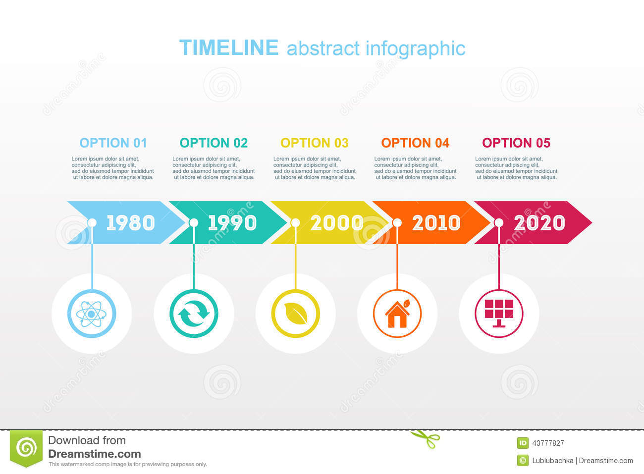 Timeline Infographic. Vector Design Template. Stock Vector ...