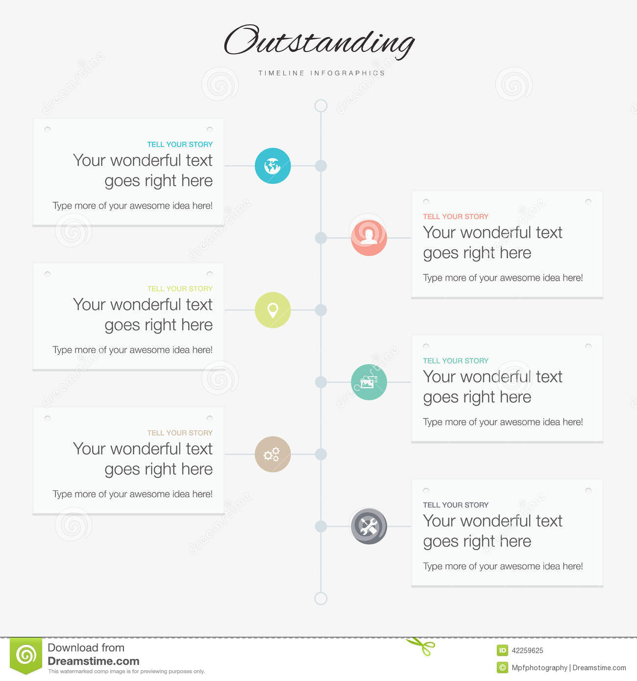 Timeline Infographic Vector Template Flat Inspirational ...