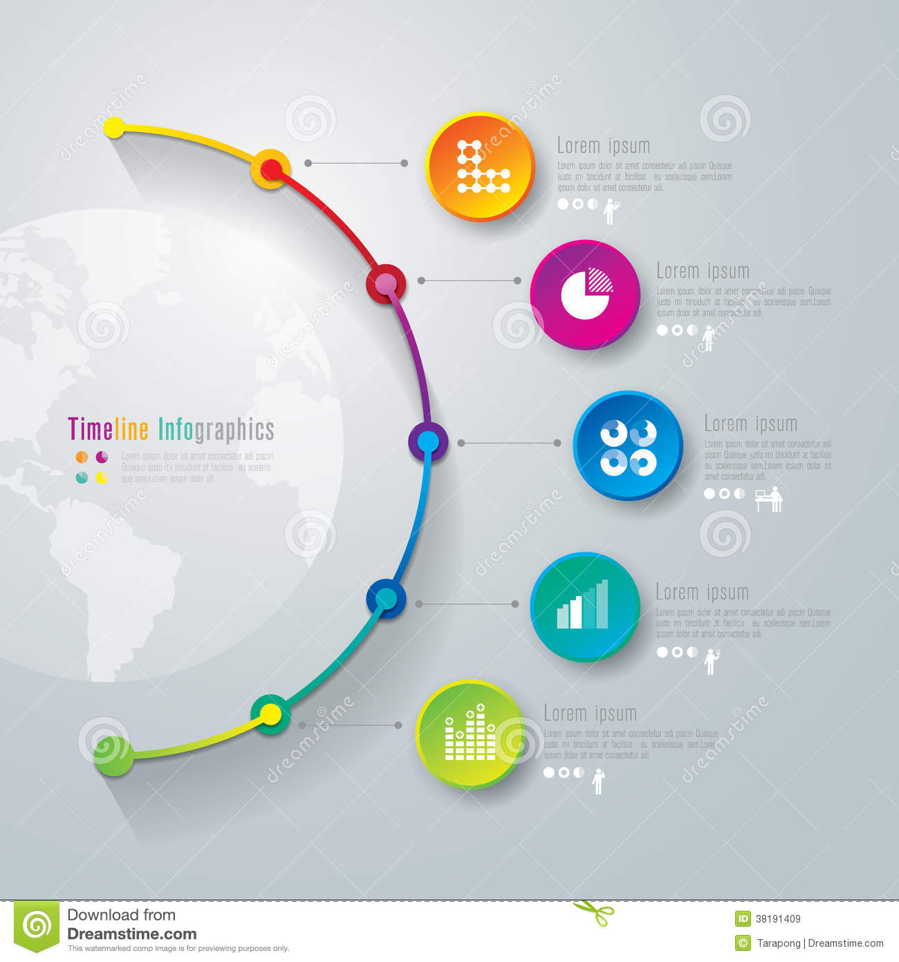 timeline infographics design template. stock vector - illustration