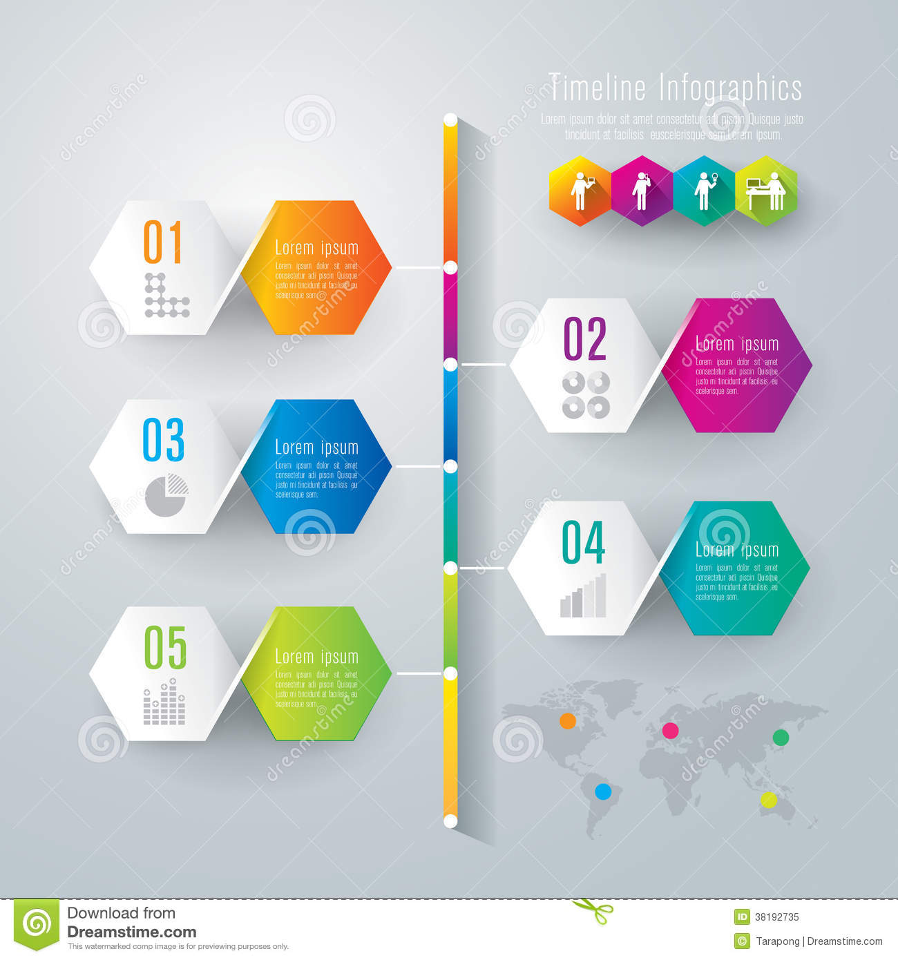 timeline infographics design template stock vector illustration