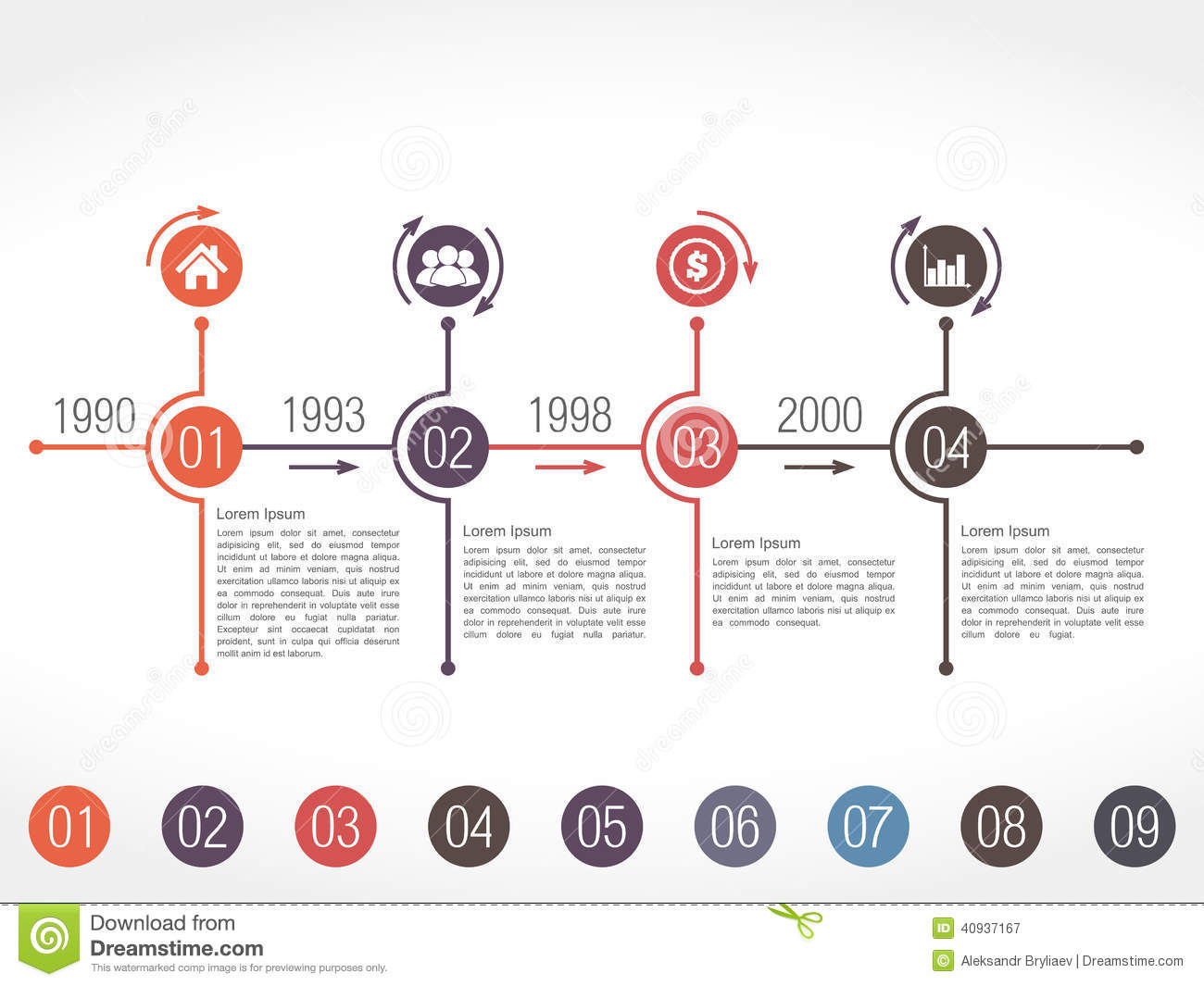Timeline Infographics Design Template Stock Vector - Image ...