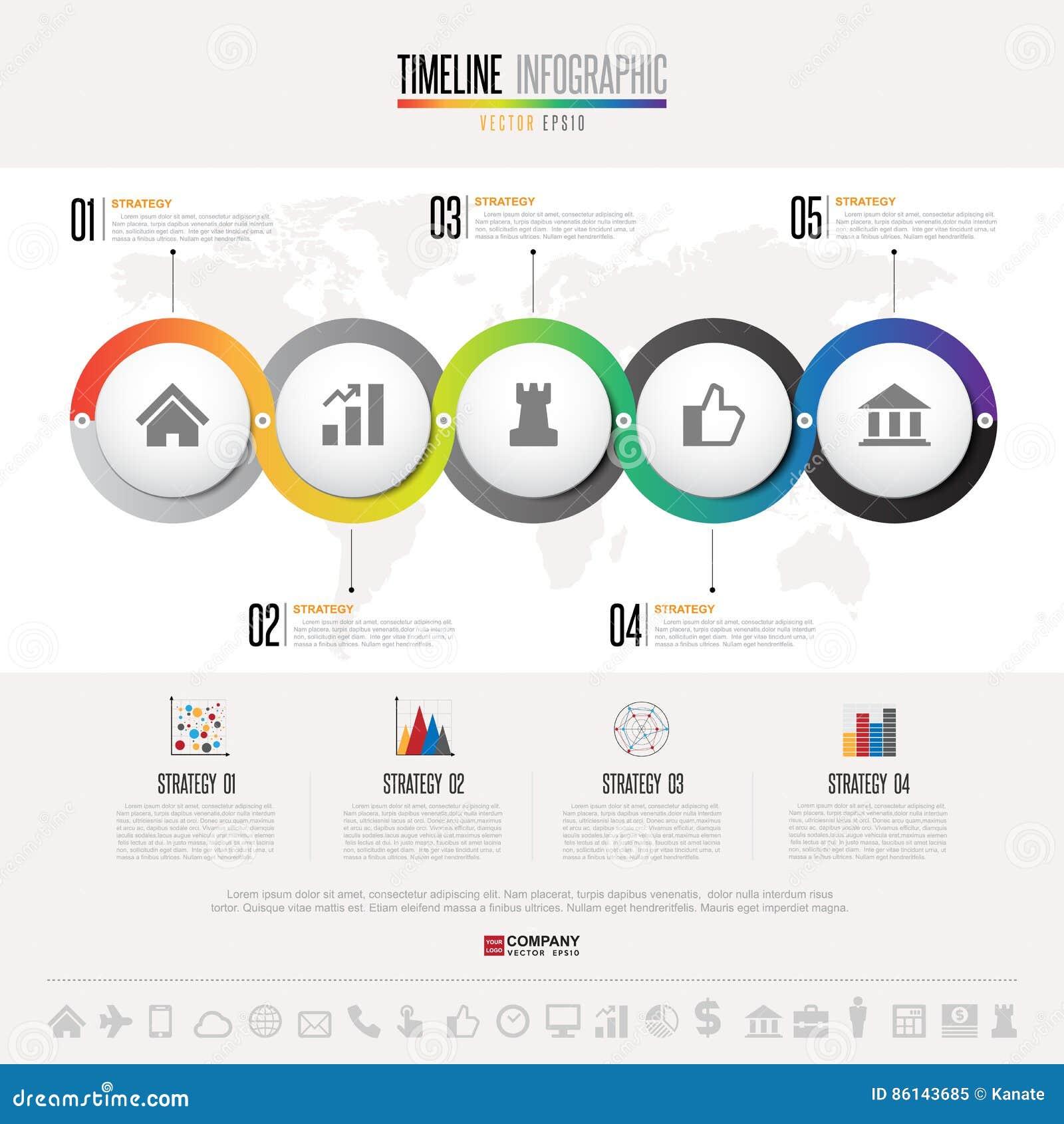 timeline infographics design template editorial image illustration