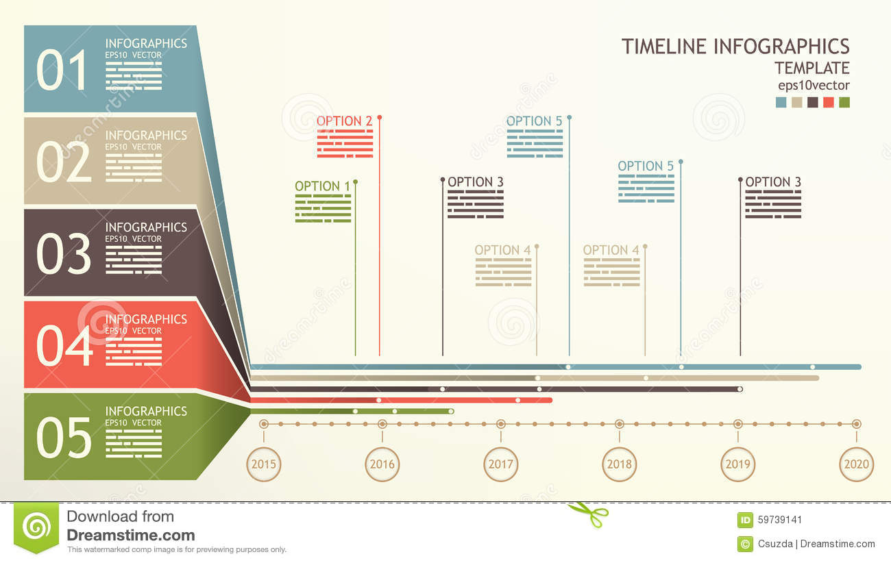timeline infographics template stock vector