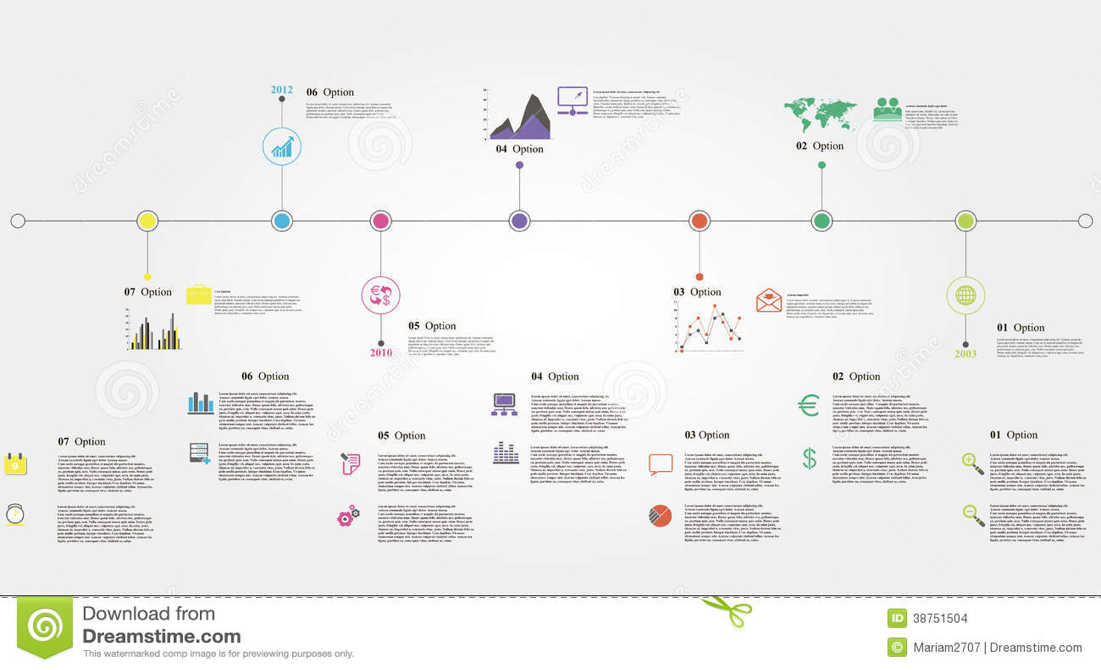 timeline infographics stock illustration illustration of business