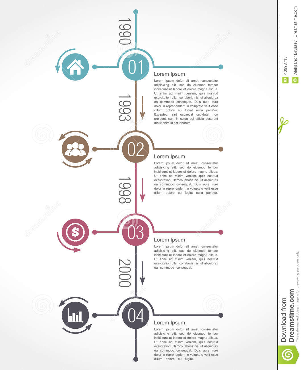 Timeline Infographics stock vector. Illustration of design ...