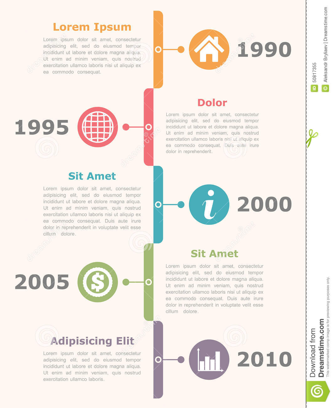 free vertical timeline template