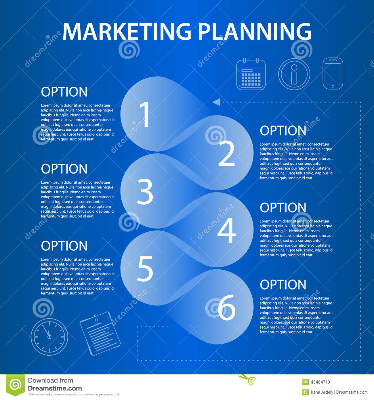 Timeline Marketing Planning Ifographic Stock Vector